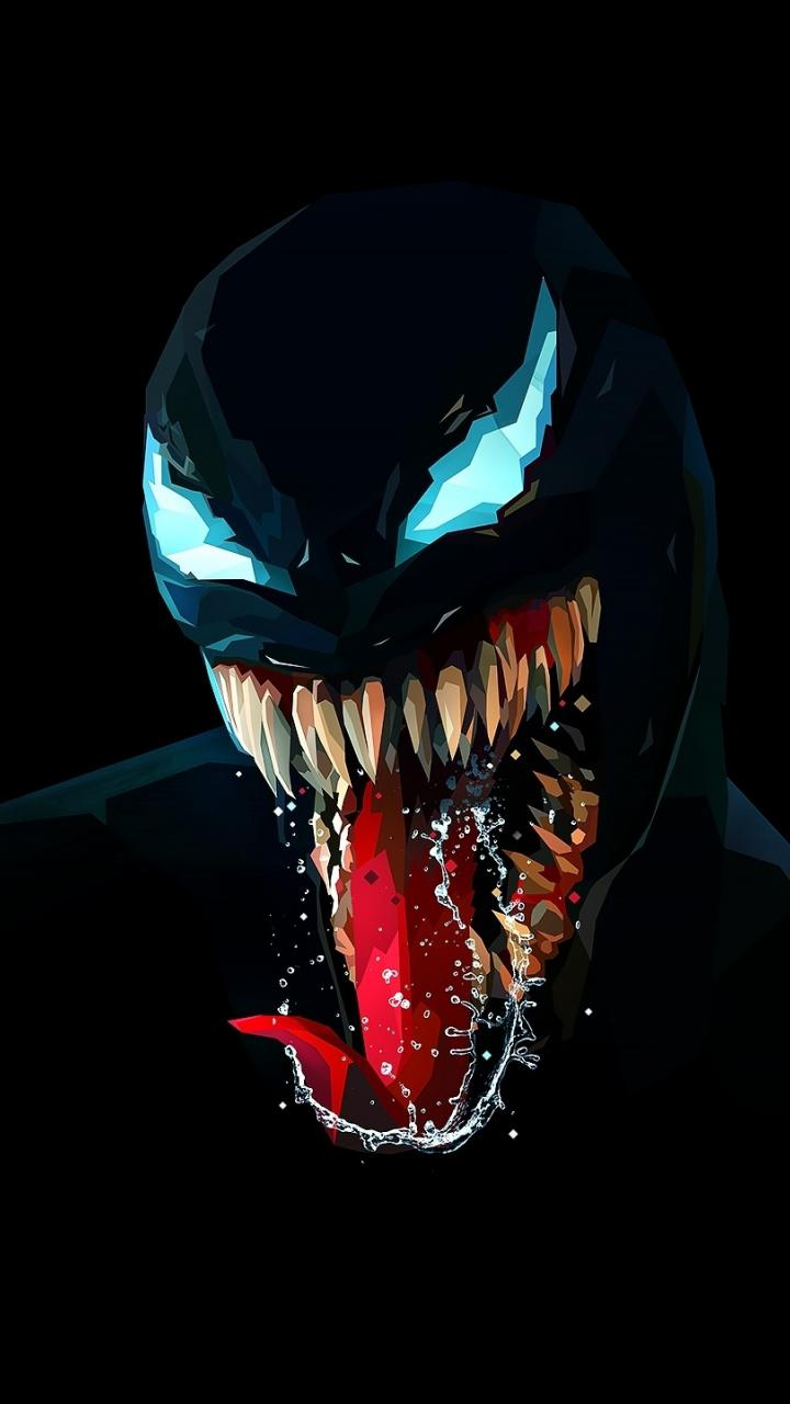 Download 720x1280 wallpapers venom, artwork, minimal, dark, samsung