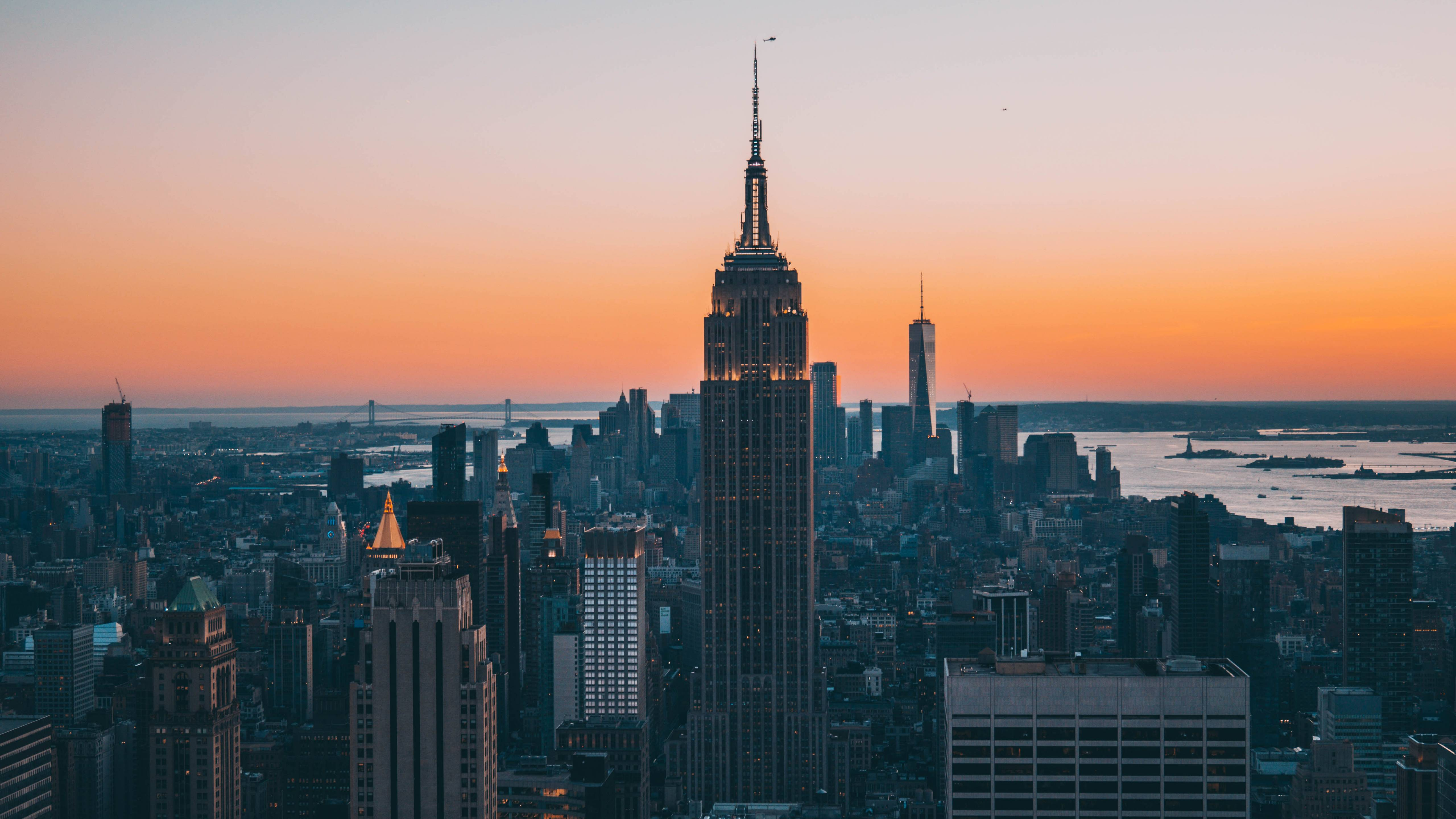Download 5120x2880 wallpapers empire state building, buildings
