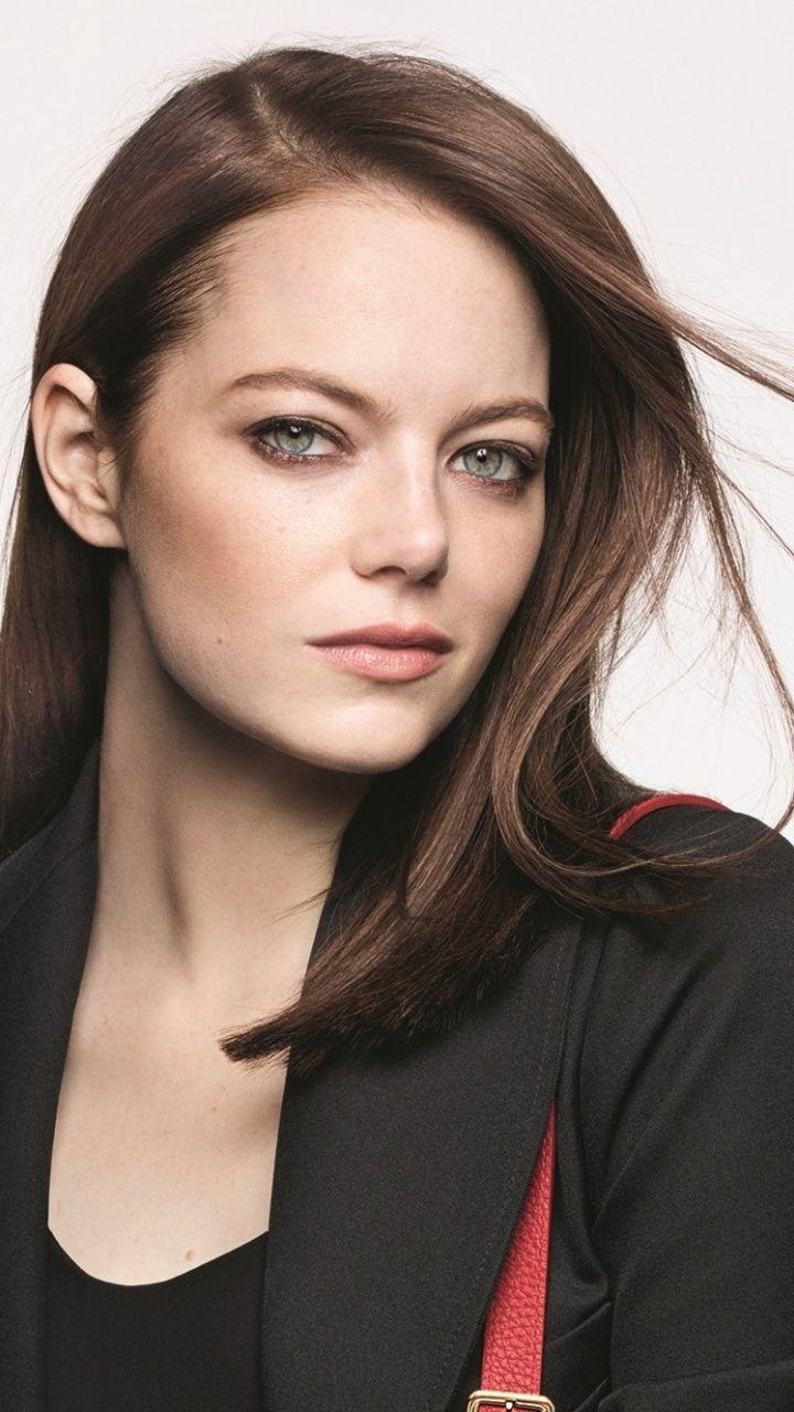 720x1280 Gorgeous, brunette, Emma Stone wallpapers