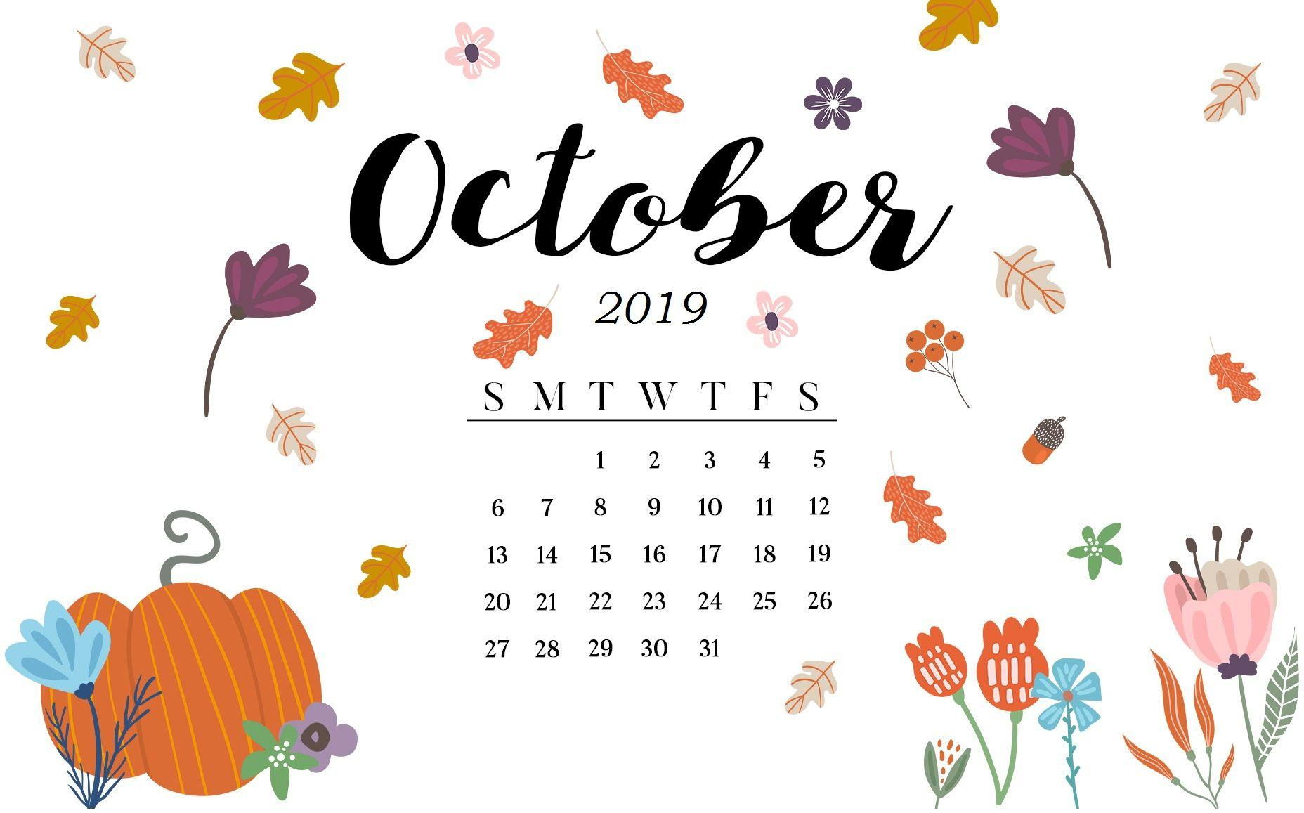 October 2019 Calendar Wallpapers , Wallpaper Cave