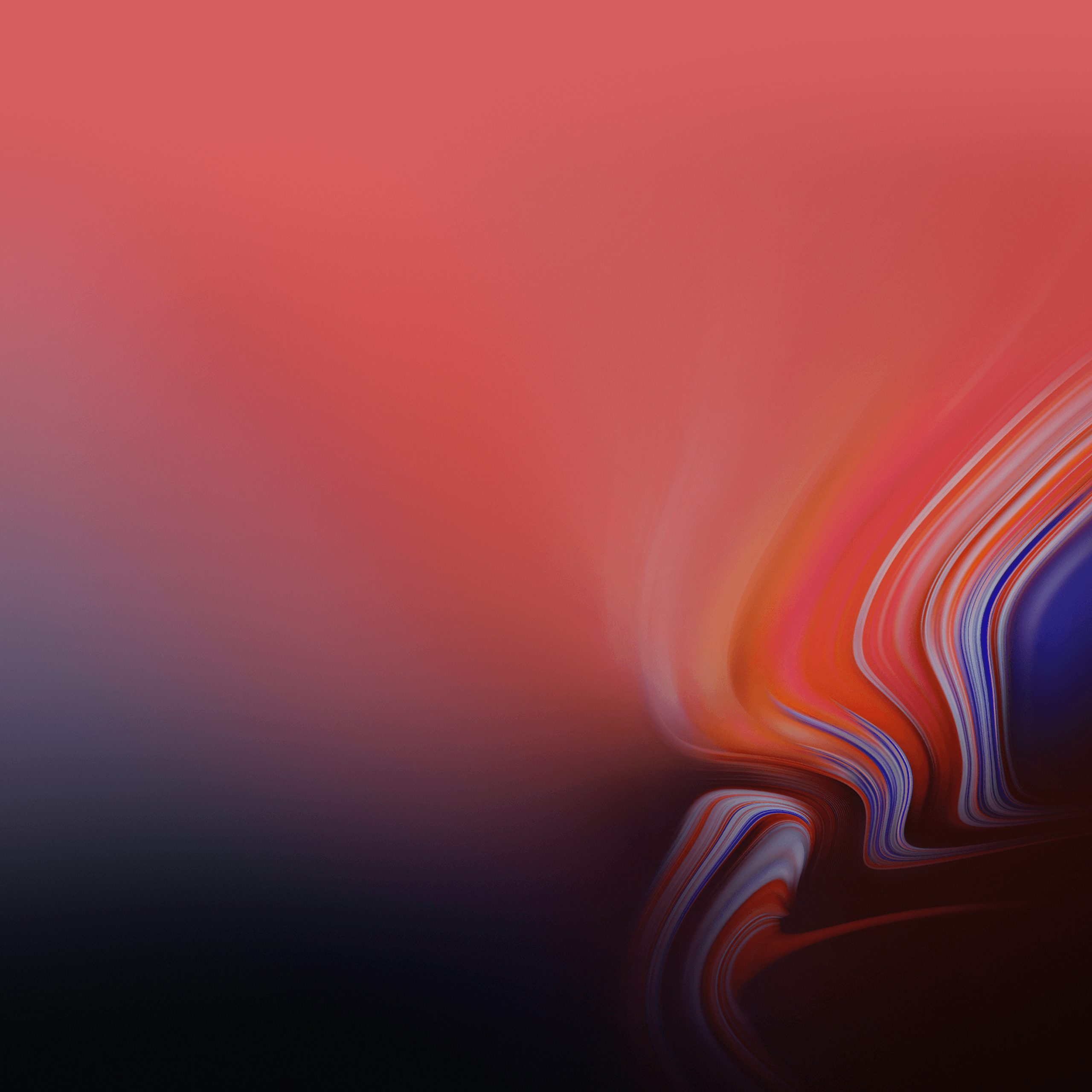 Wallpapers Waves, Gradient, Red, Samsung Galaxy Tab S4, Stock, HD