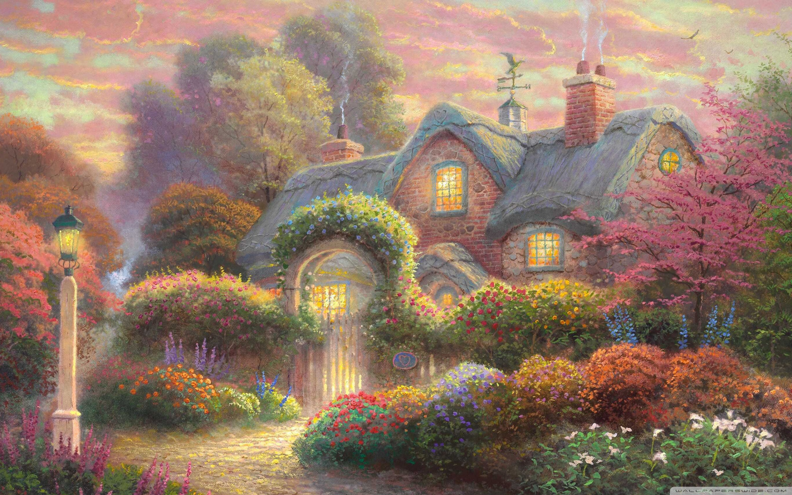 Fairytale Cottage Wallpapers Wallpaper Cave