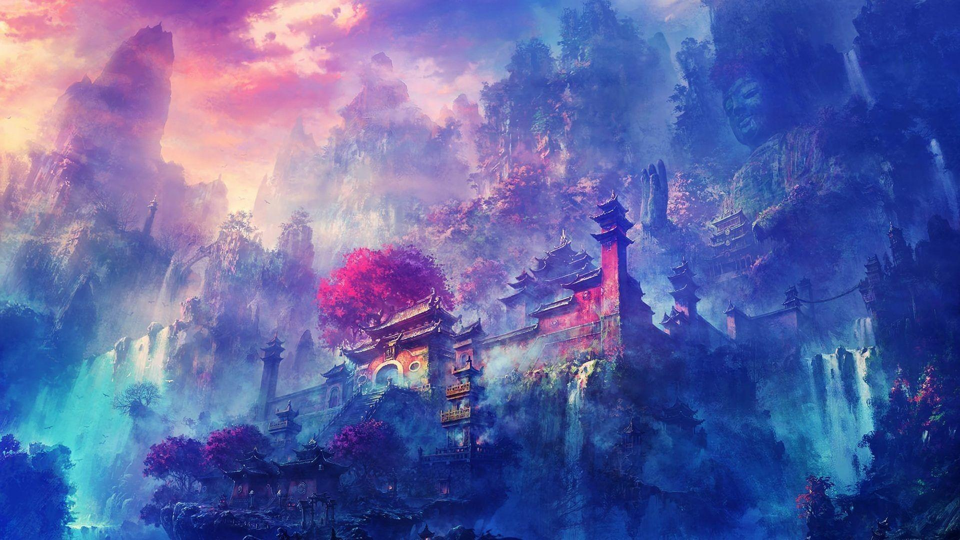 Anime Artwork Landscape 4k Wallpapers Wallpaper Cave