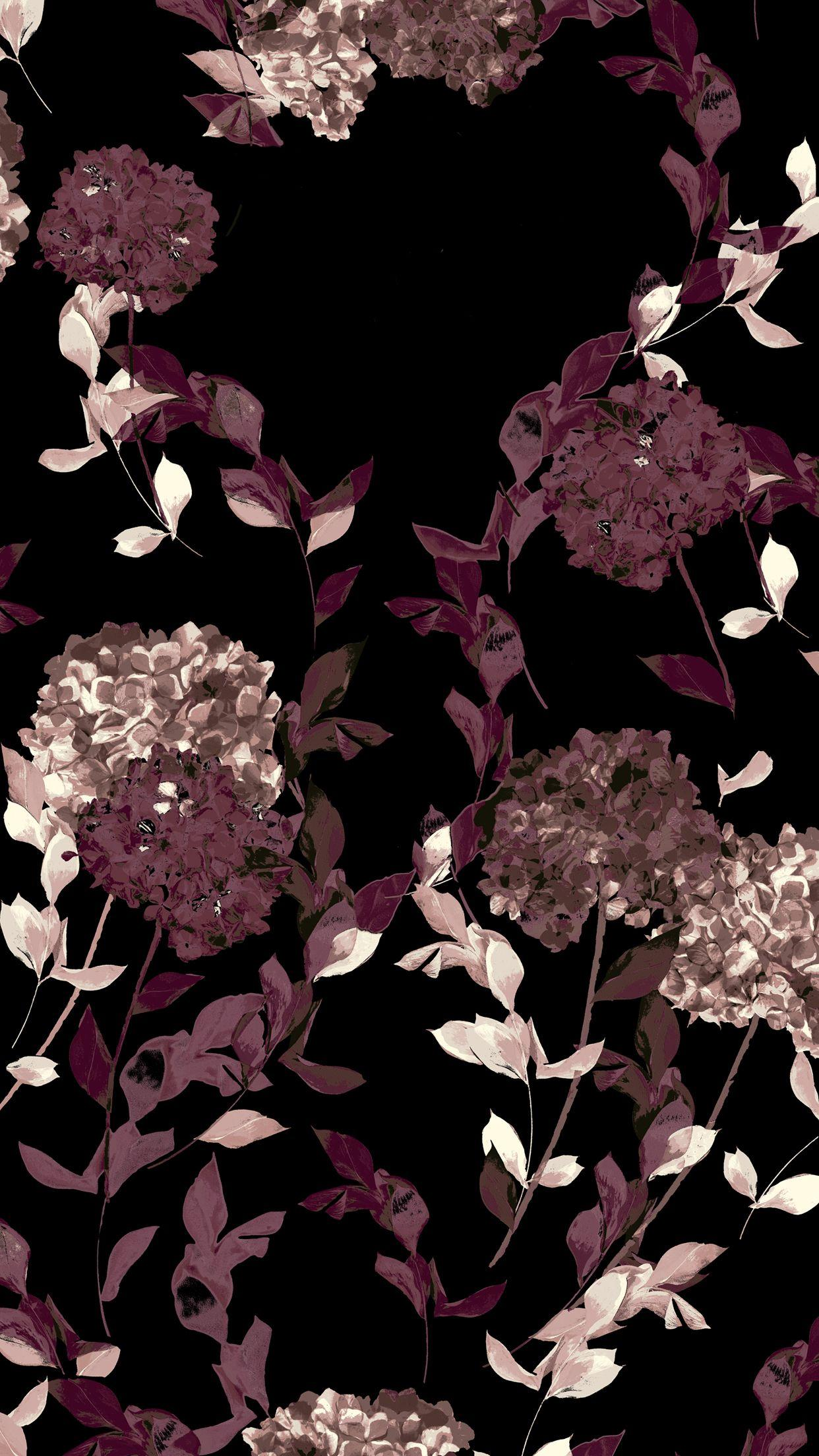 Pink And Black Flower Wallpapers Wallpaper Cave