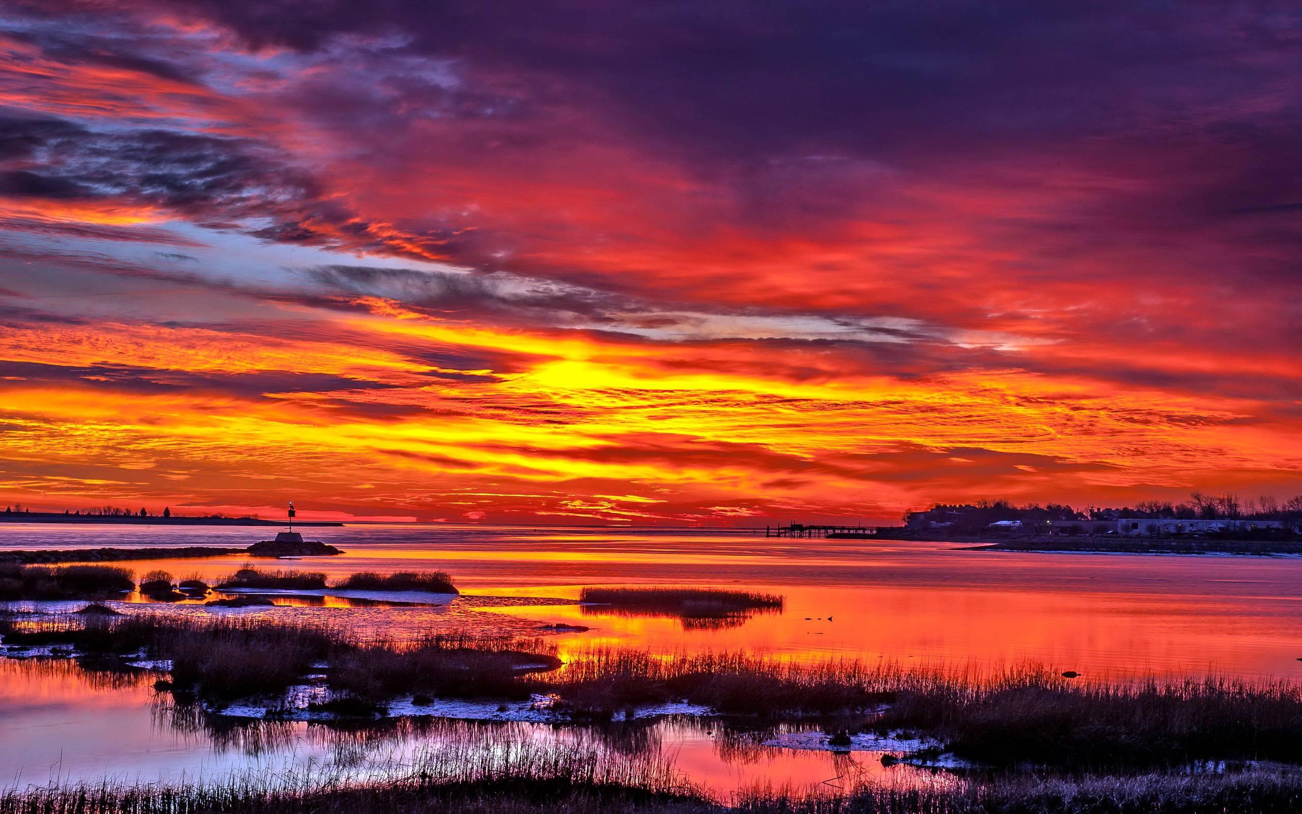 Sunset Landscape Wallpapers - Wallpaper ...