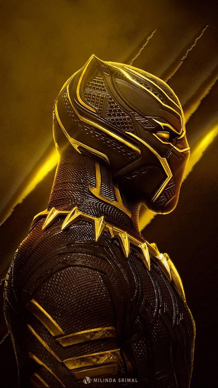 Black Panther Gold Hd Wallpapers Wallpaper Cave