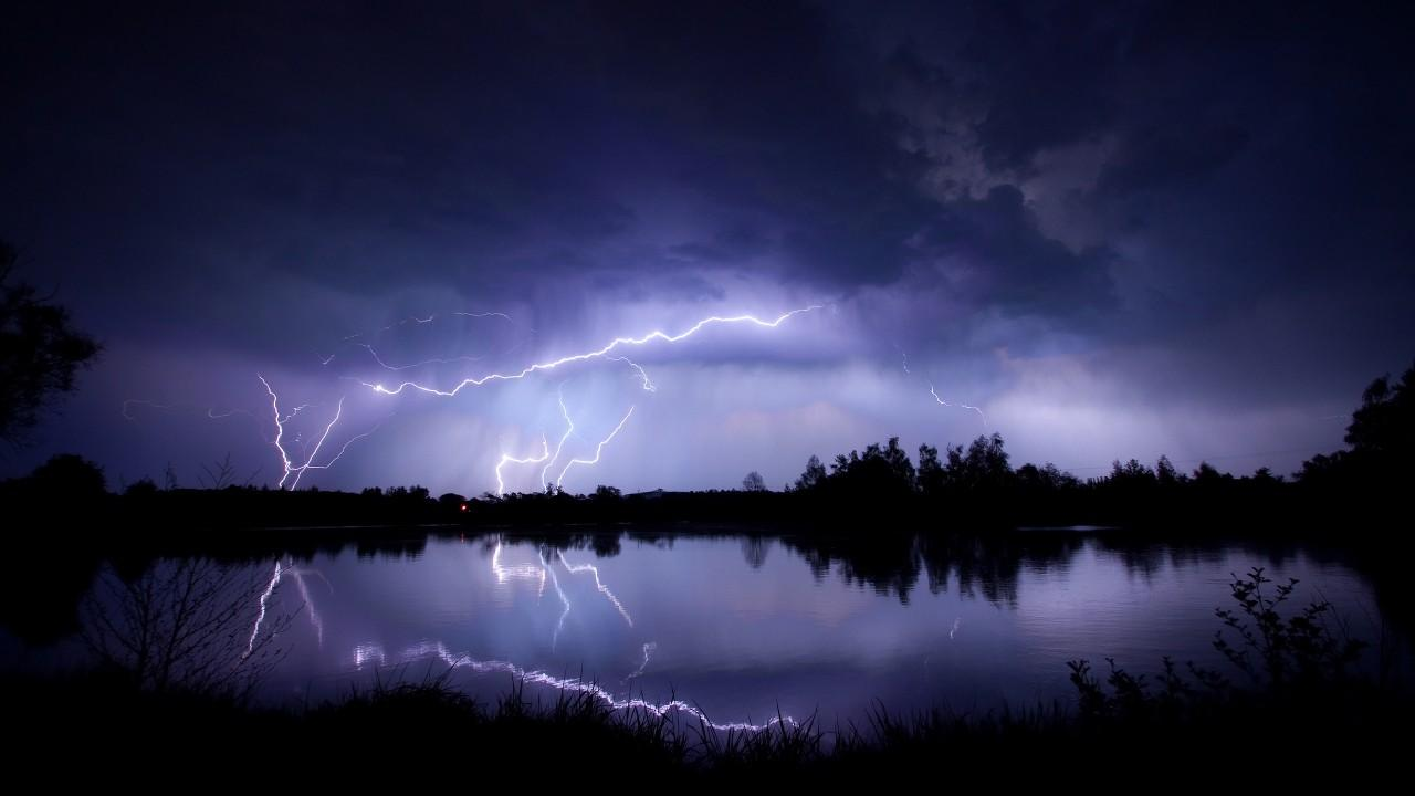 Wallpapers Lightning, Nature,