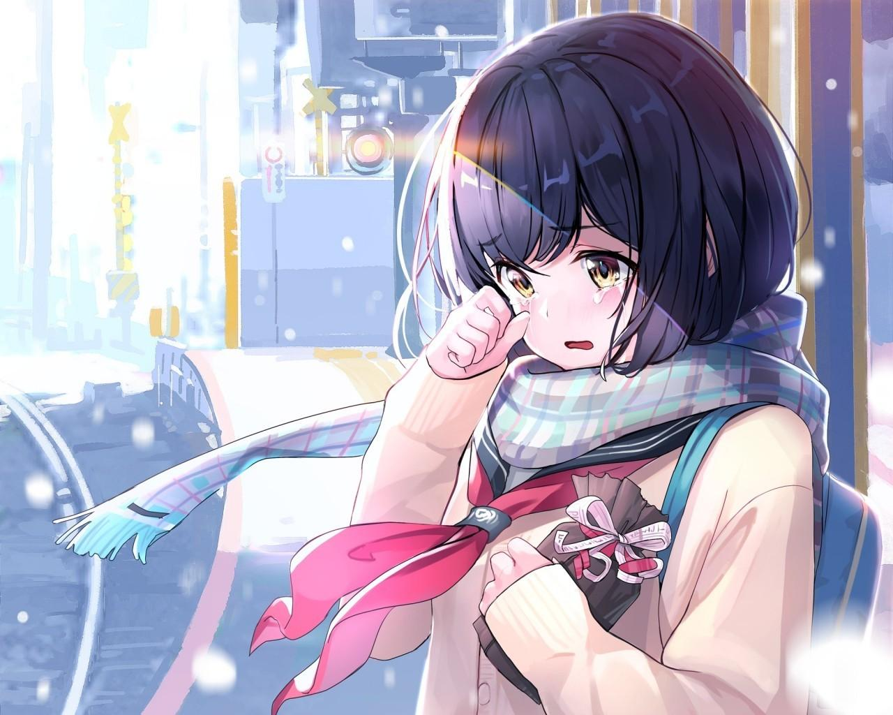 Broken Hearted Beautiful Sad Anime Girl Wallpaper Anime Wallpapers