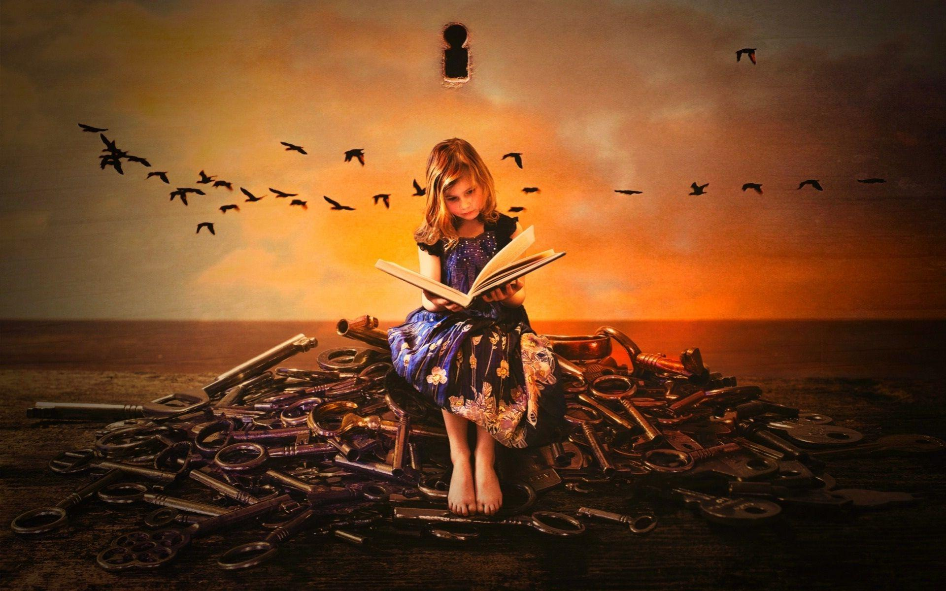Girl Reading Wallpapers Wallpaper Cave