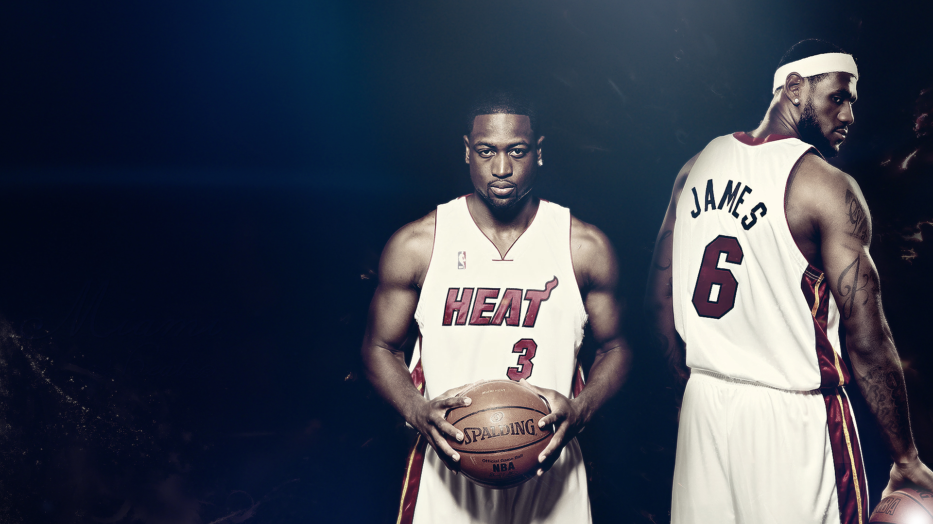 Lebron And Wade Wallpapers Wallpaper Cave
