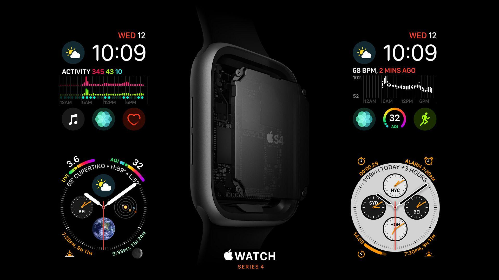 Wallpapers Apple Watch Series 4, S4, Apple September 2018 Event, Hi