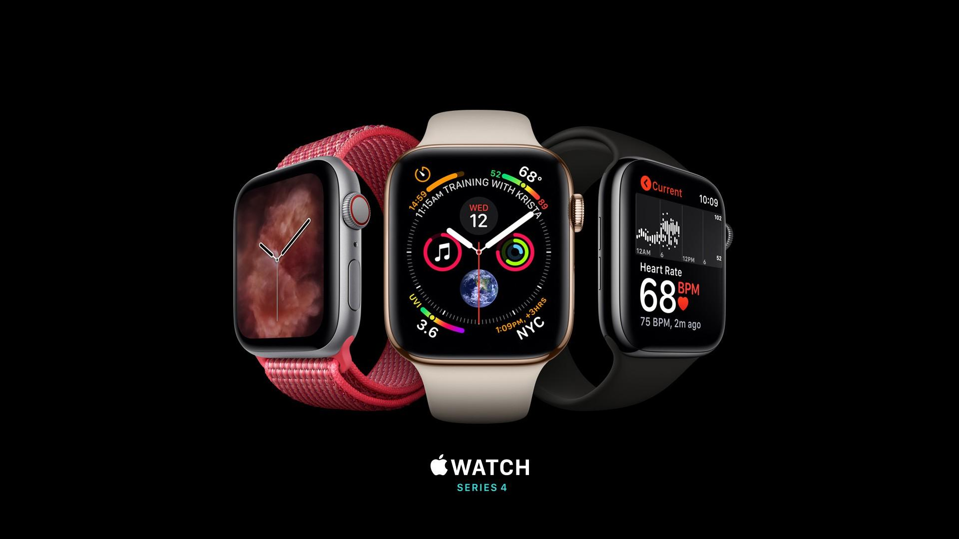 Wallpapers Apple Watch Series 4, silver, gold, black, Apple September