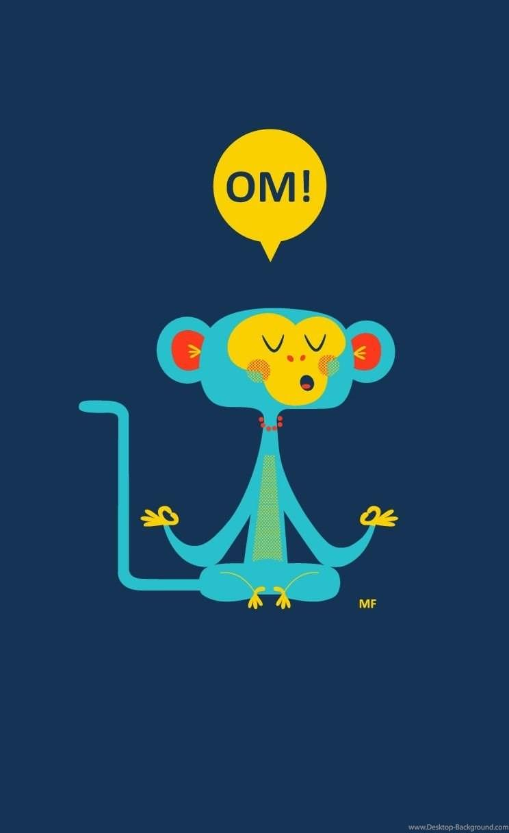 Om Cute Monkey iPhone 4s Wallpapers Download Desktop Backgrounds