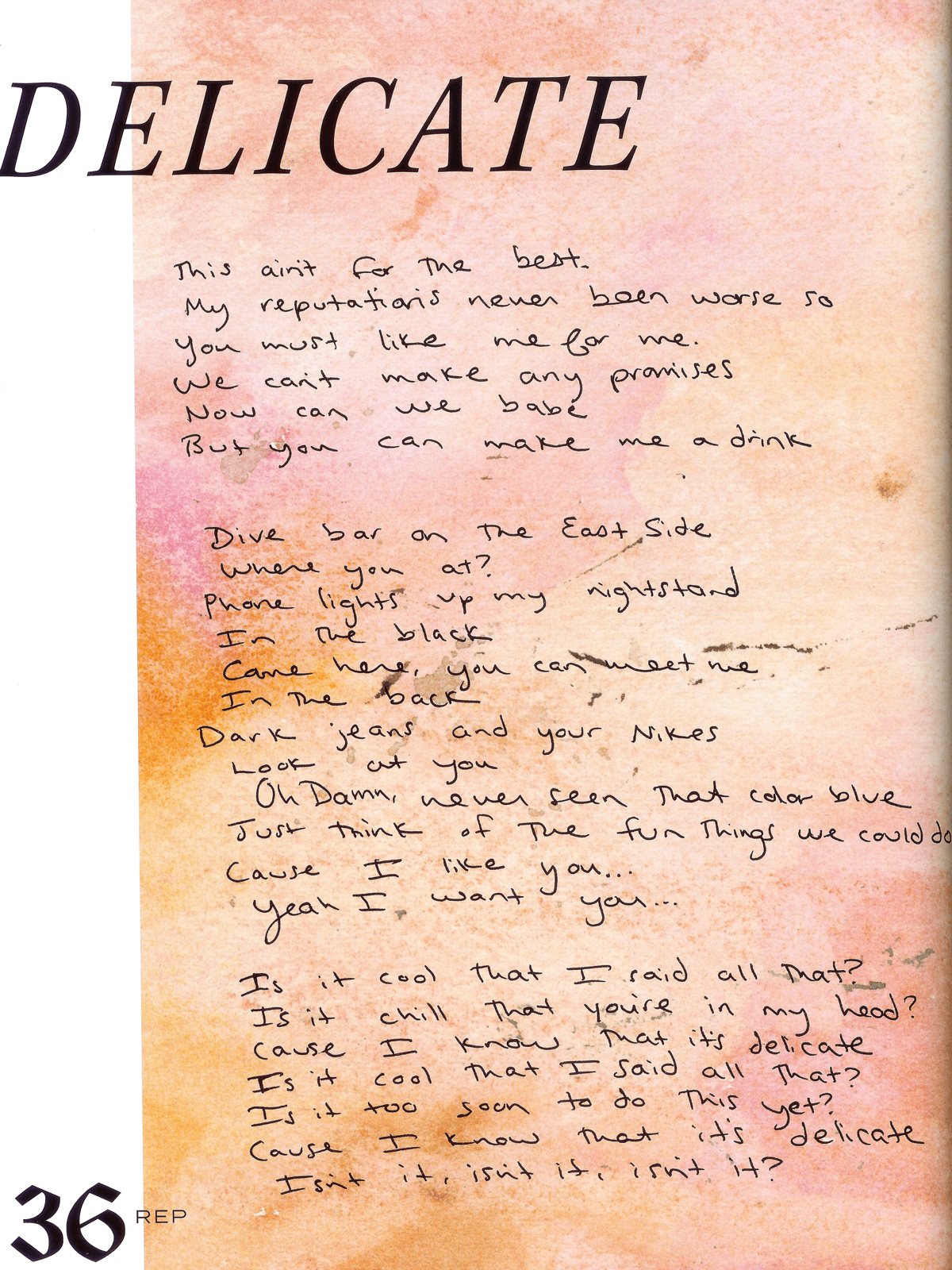Taylor Swift Lyrics Wallpapers - Wallpaper Cave
