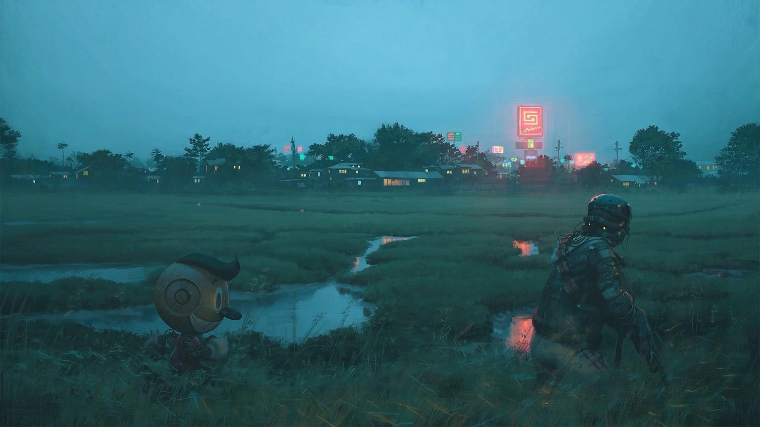 4525577 Stålenhag, fiction wallpapers
