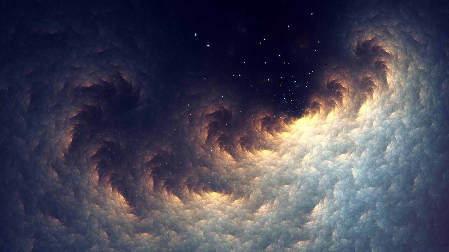 Download 1536x864 Space, Stars, Nebula Wallpapers