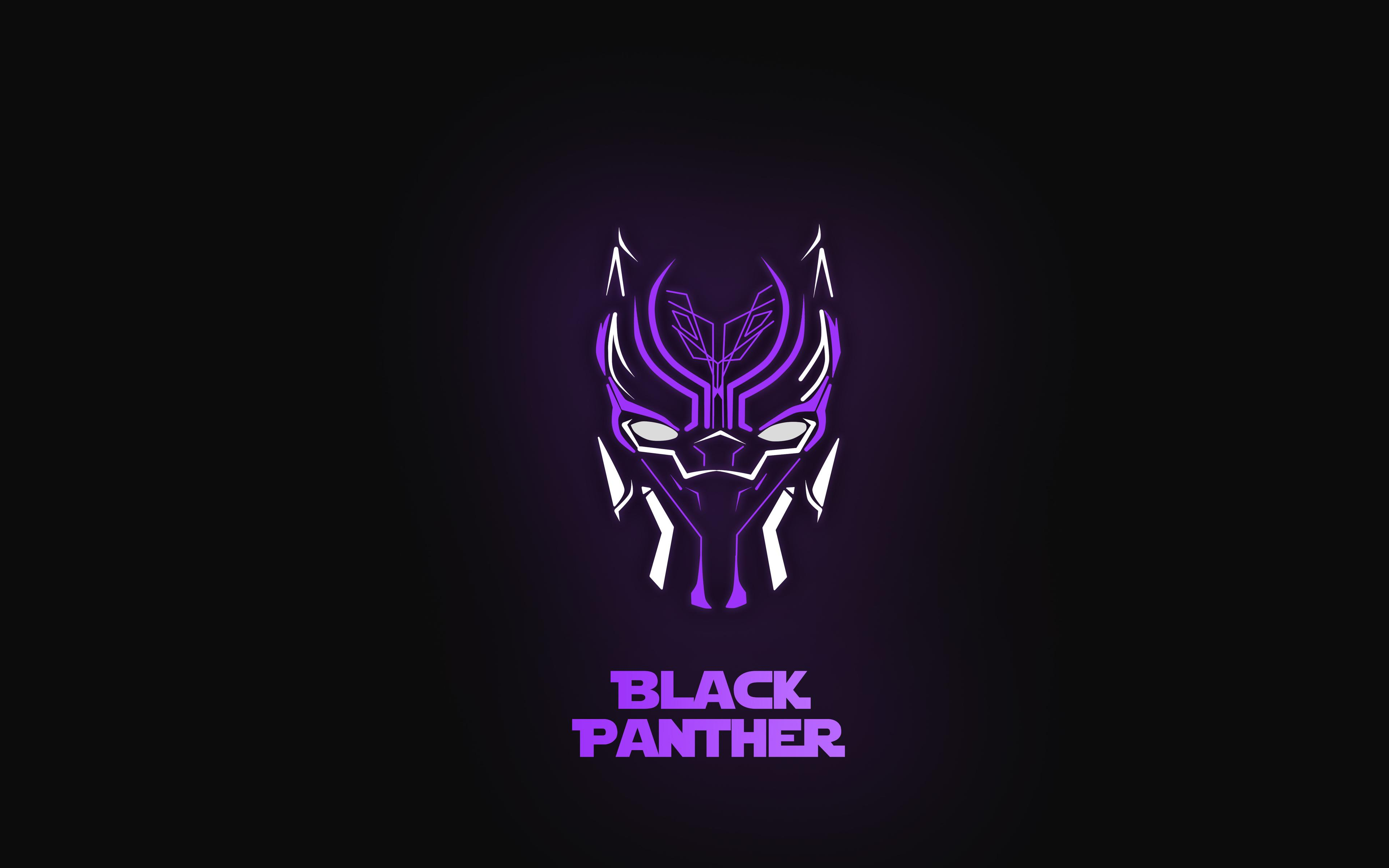 3840x2400 Black Panther Neon 5k 4k HD 4k Wallpapers, Image