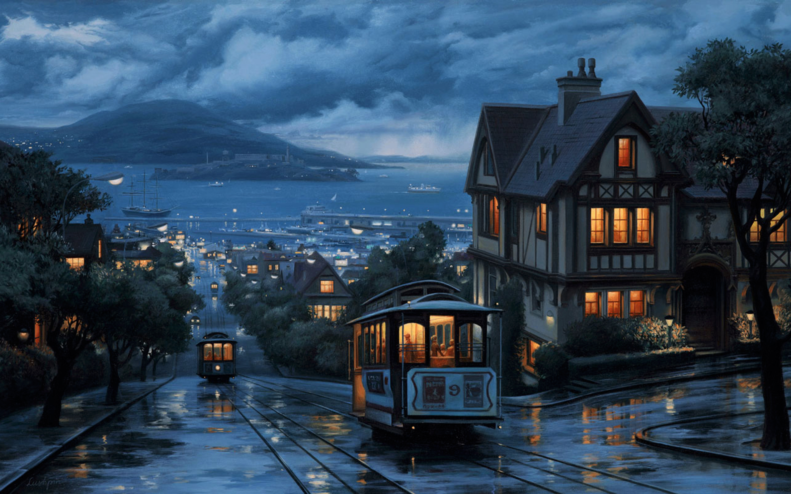 Cityscape Painting Wallpapers