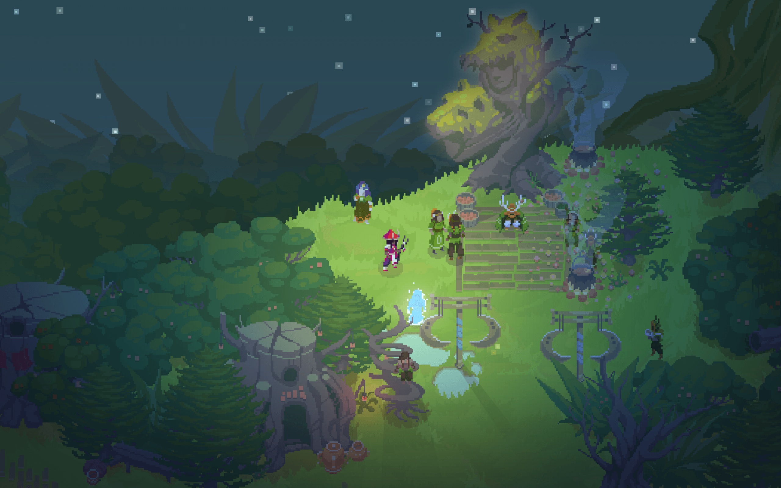 Download 2560x1600 Moon Hunters, Pixel Art Wallpapers for MacBook