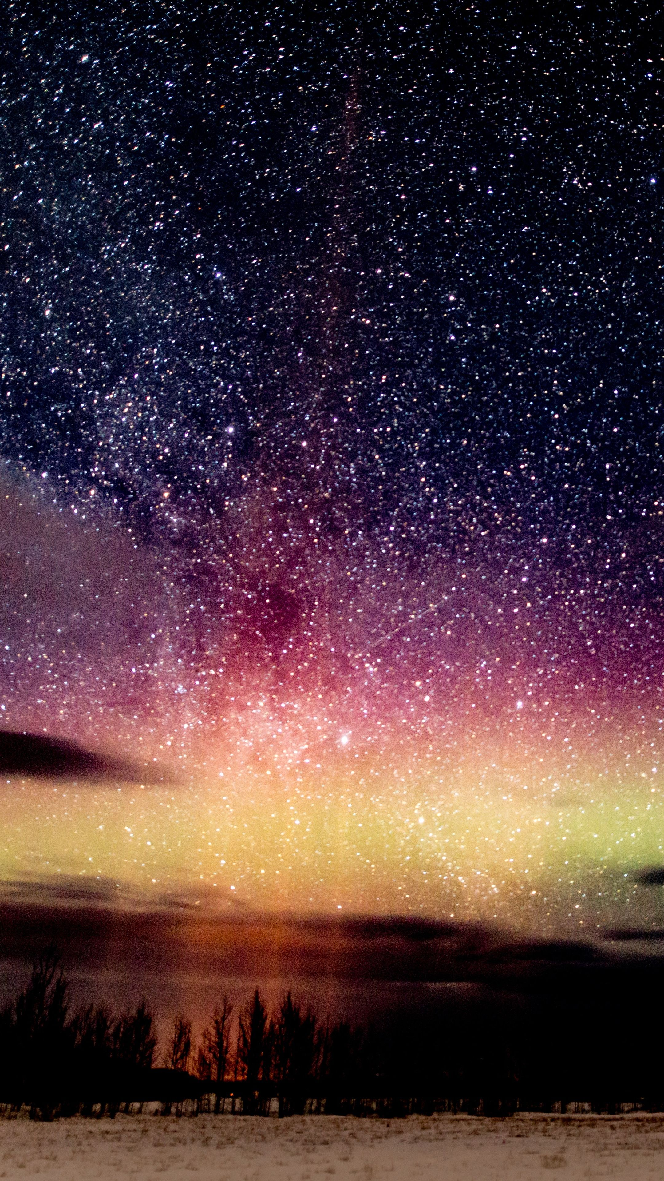 2160x3840 Wallpapers starry sky, night, stars, glitter