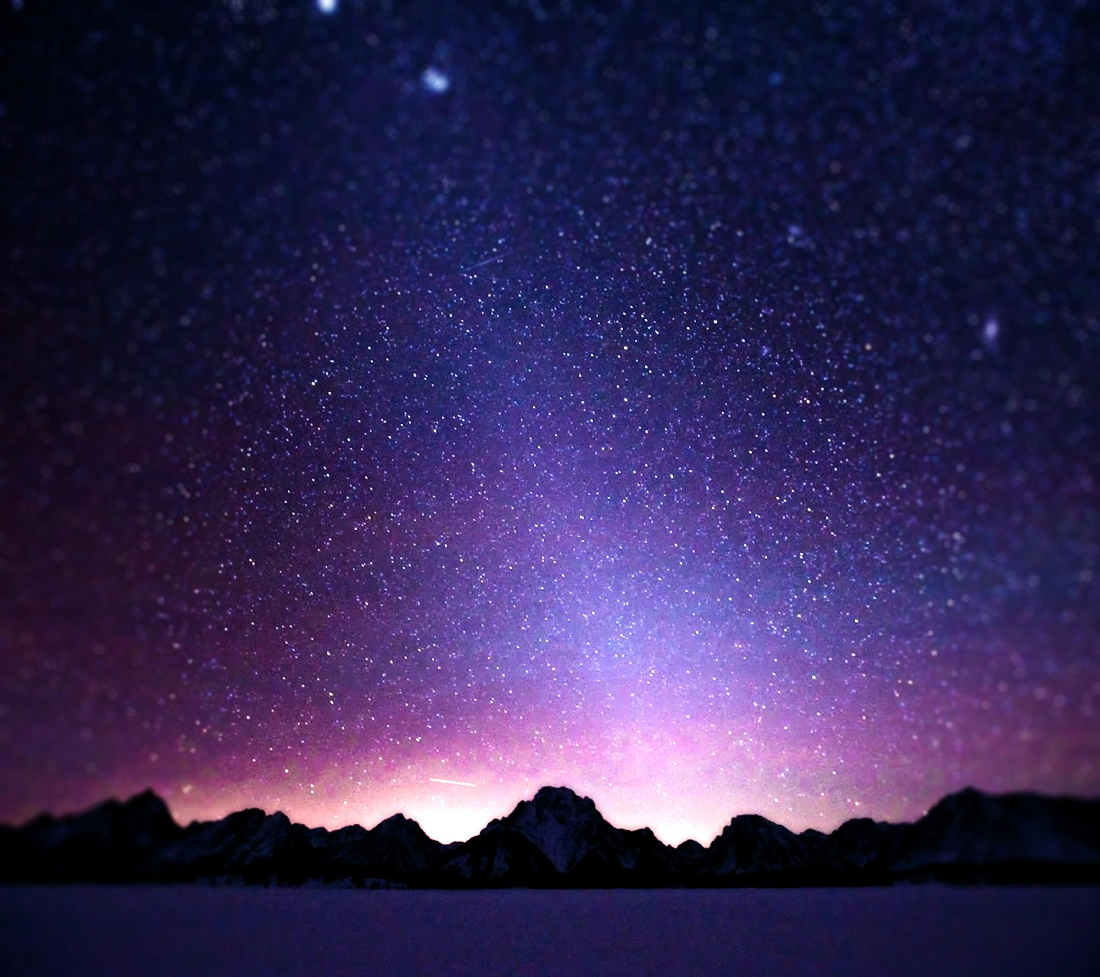 Starry, Night, Nature, Wide, High, Definition, Wallpaper, Download