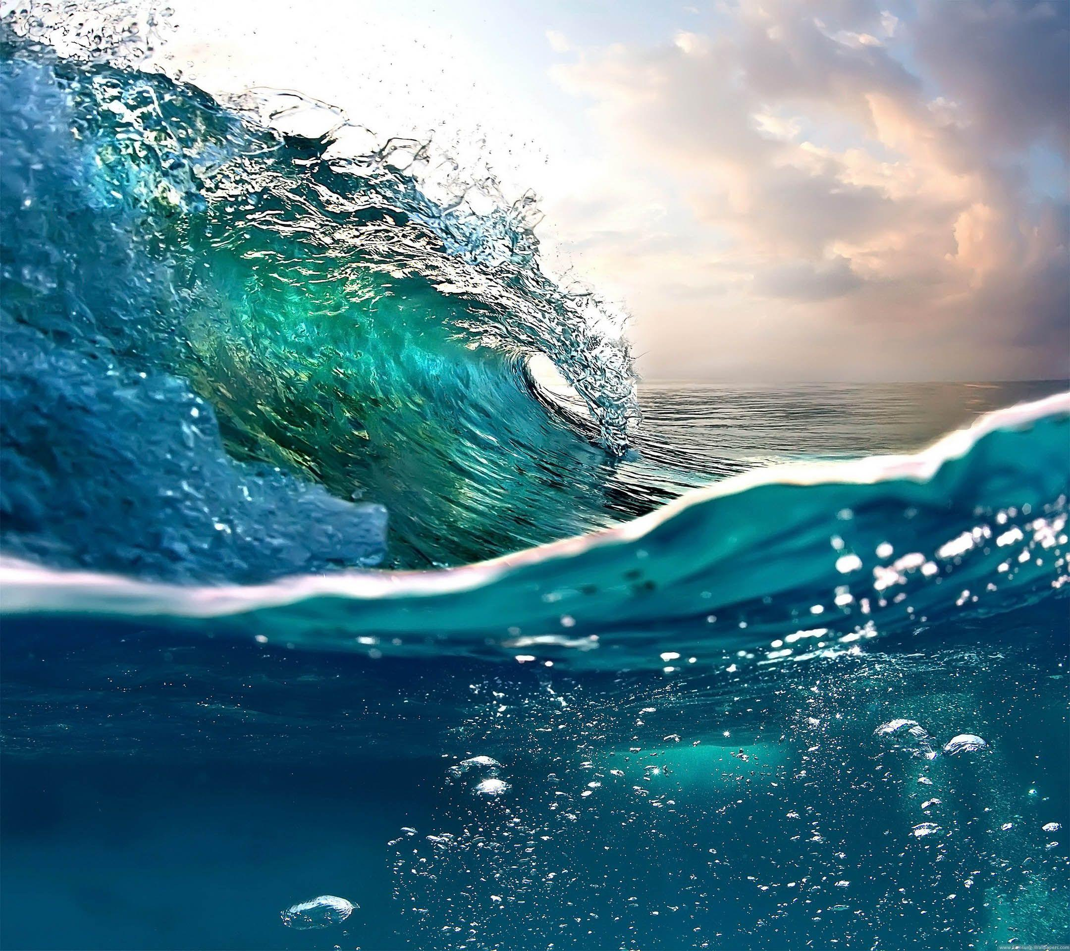 Sea Wave Stock 2160x1920 Samsung Galaxy S4 Wallpapers HD_Samsung
