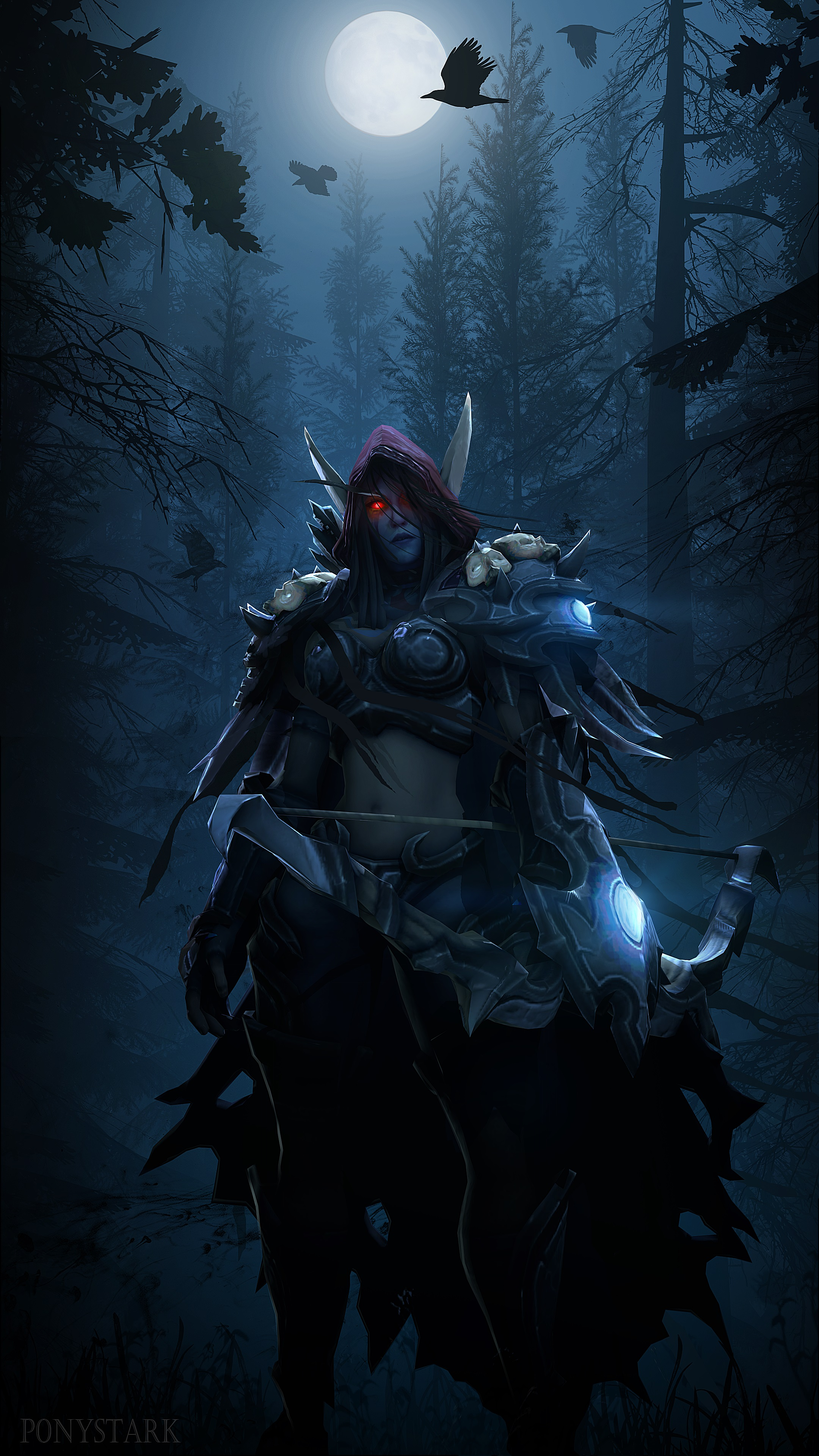 Wallpapers World of WarCraft Sylvanas Windrunner Warriors 2160x3840