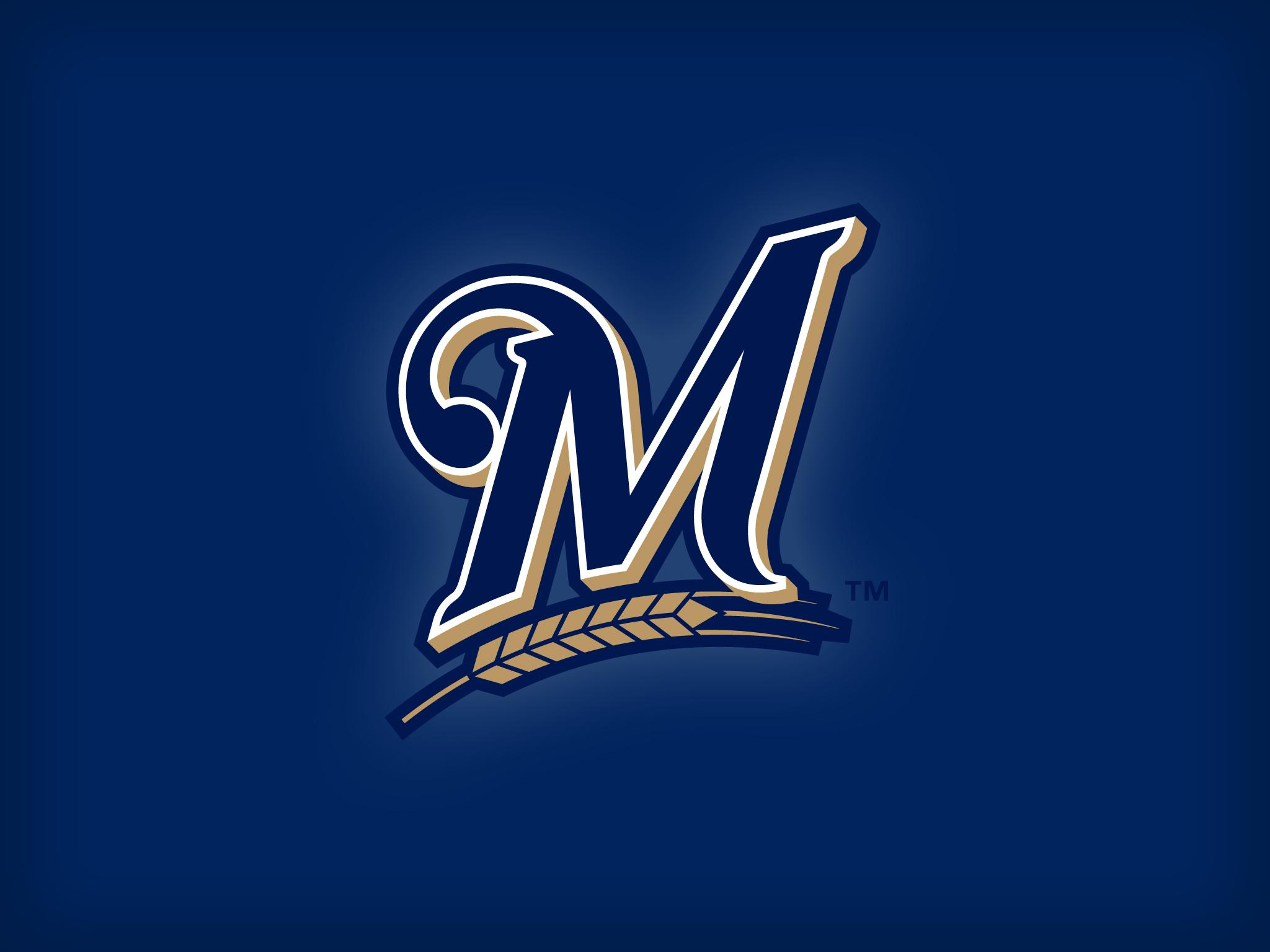 Download wallpapers 2048x1536 milwaukee brewers, baseball, team, logo
