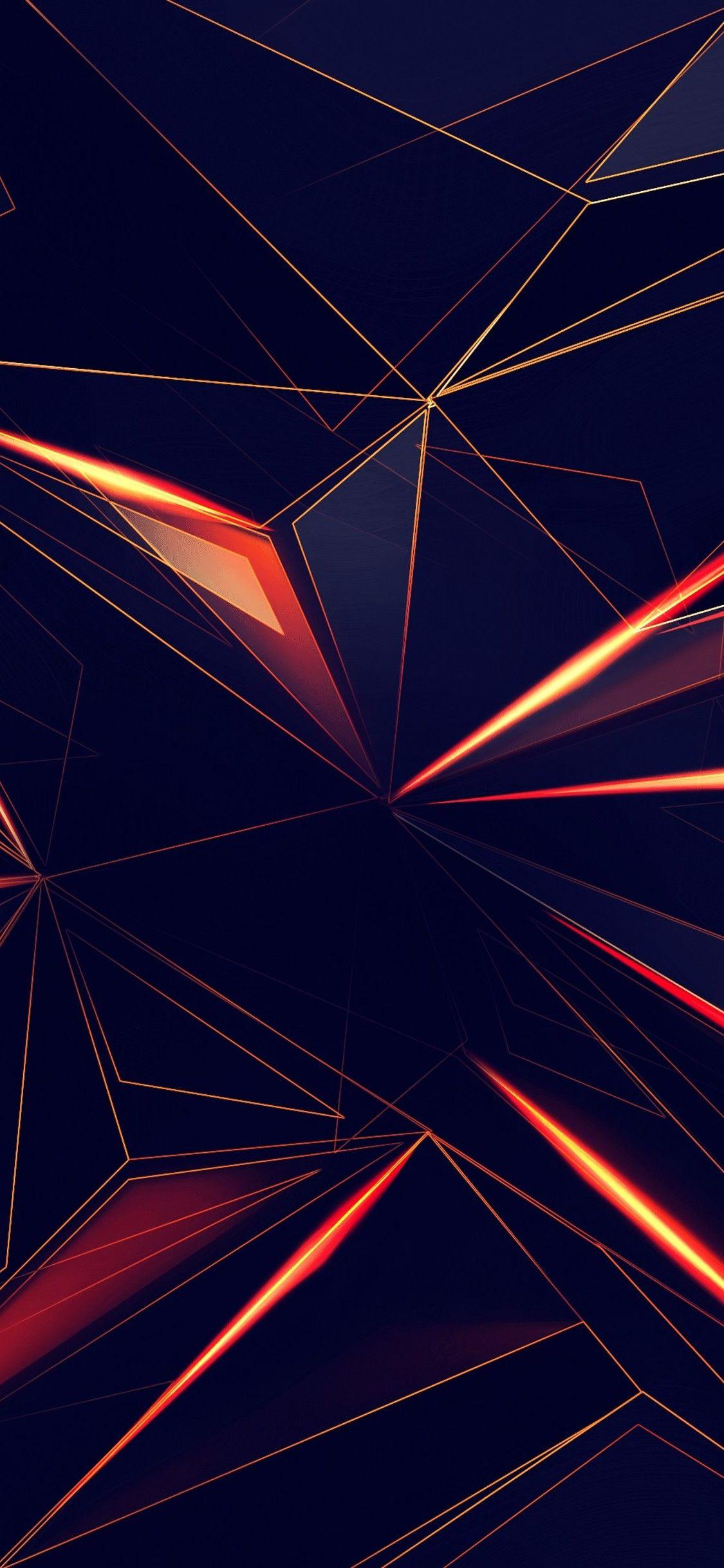 3d Shapes Abstract Lines 4k In 1125x2436 Resolution