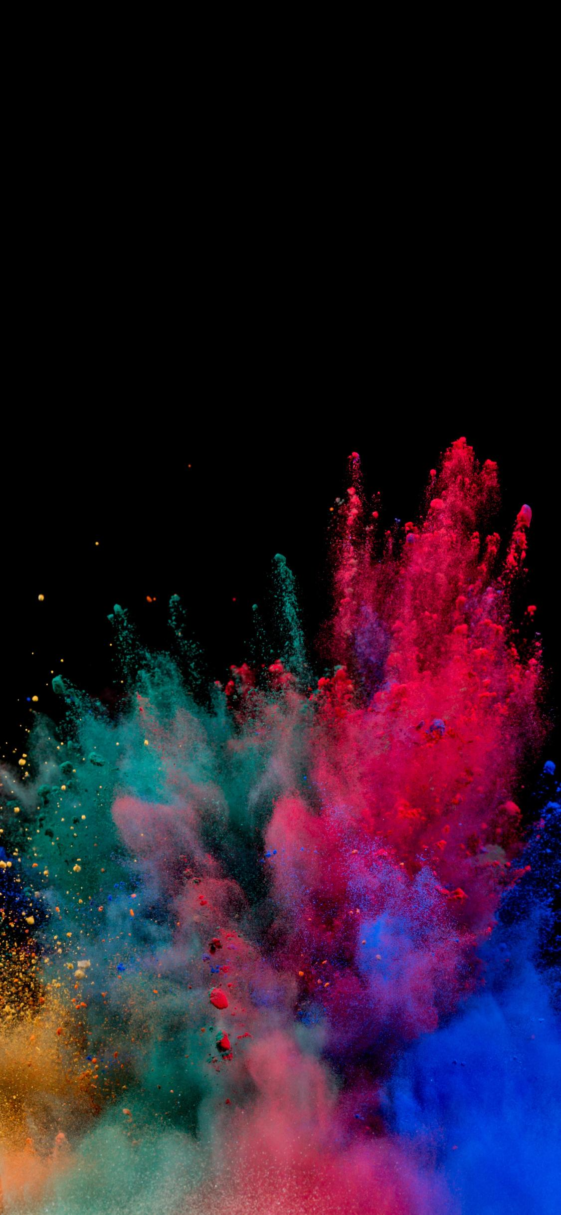 Download 1125x2436 wallpapers colors, blast, explosion, colorful