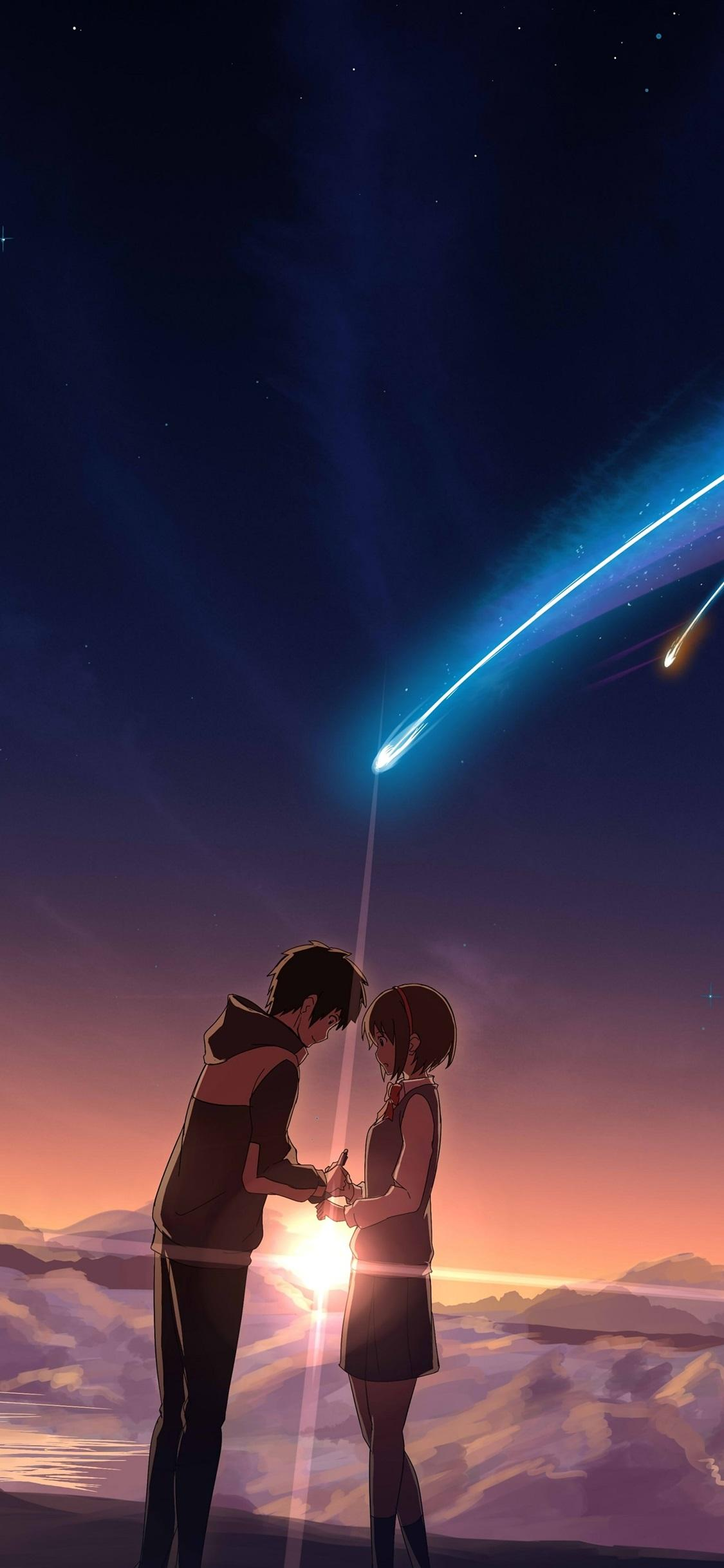 Your Name, beautiful meteor 1125x2436 iPhone XS/X wallpapers
