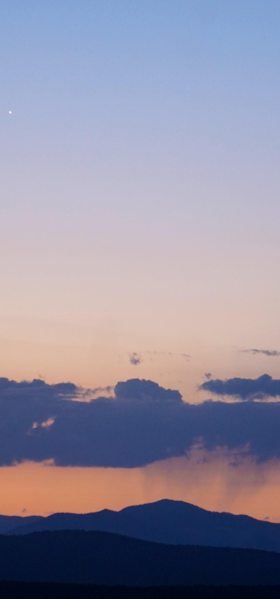 Download 1080x2310 Twilight, Moon, Clouds, Scenic Wallpapers for