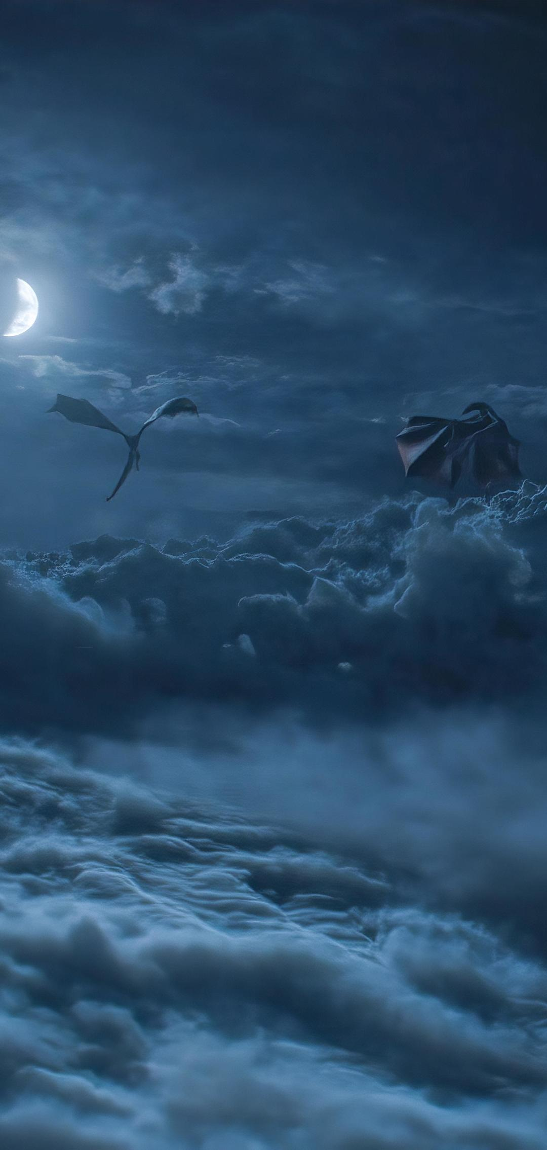 1080x2270 Dragons Above Cloud Game Of Throne Season 8 1080x2270