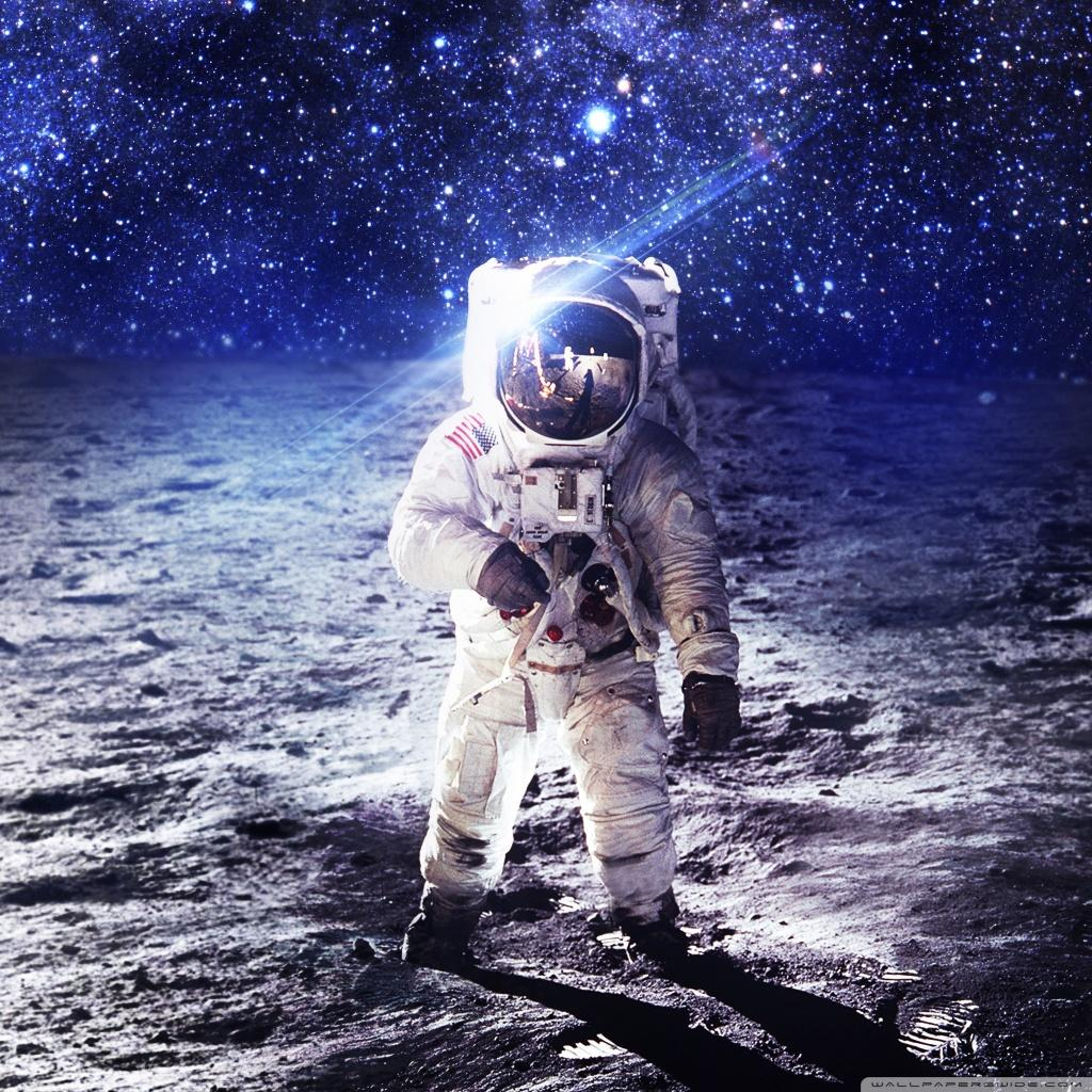 Man on the Moon ❤ 4K HD Desktop Wallpapers for 4K Ultra HD TV • Wide