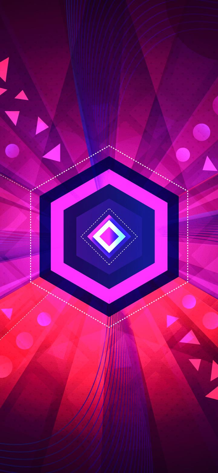 720x1560 Abstract Octagon Vector 720x1560 Resolution Wallpaper, HD