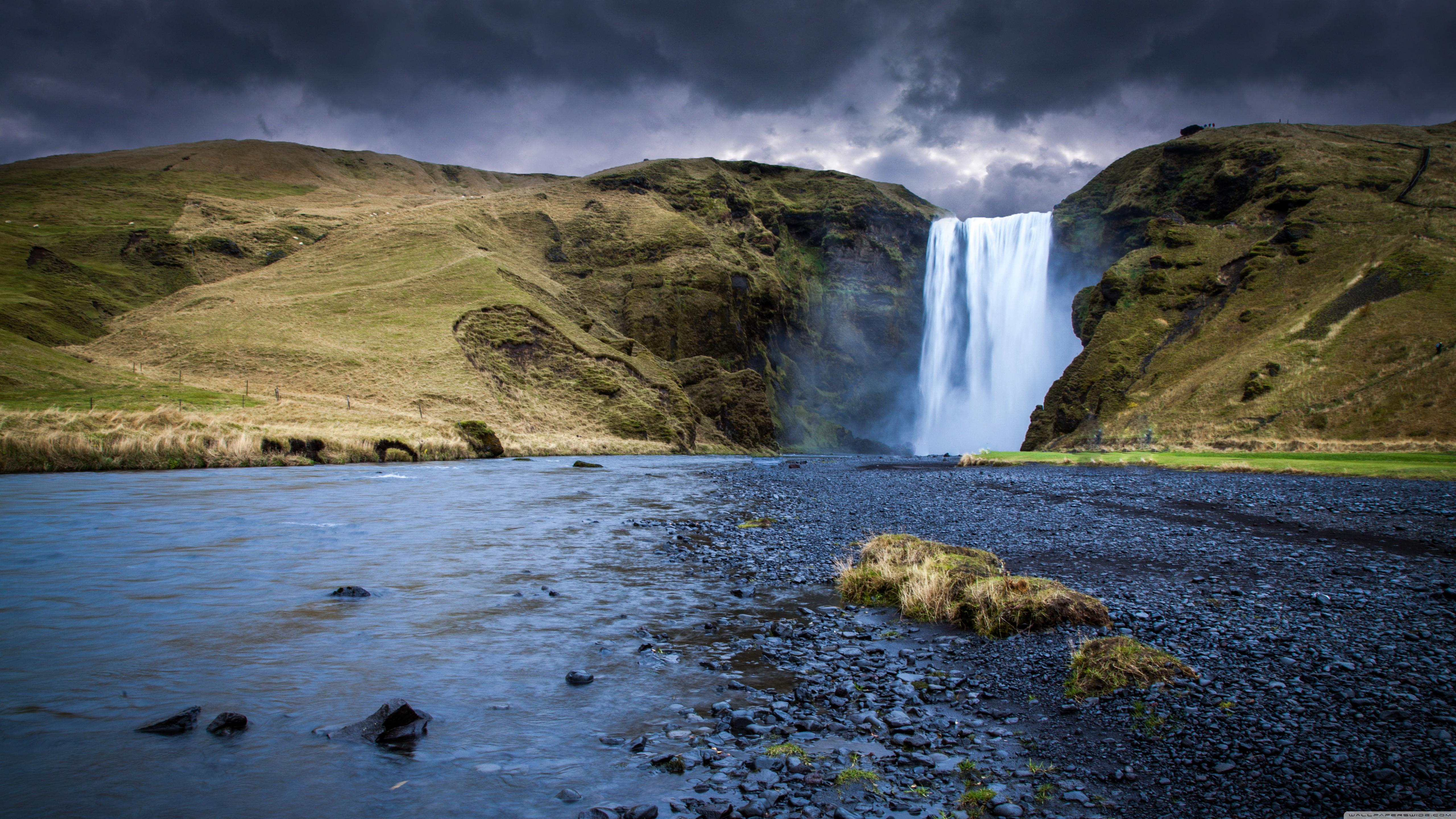 Skogafoss Waterfall, Iceland ❤ 4K HD Desktop Wallpapers for 4K Ultra