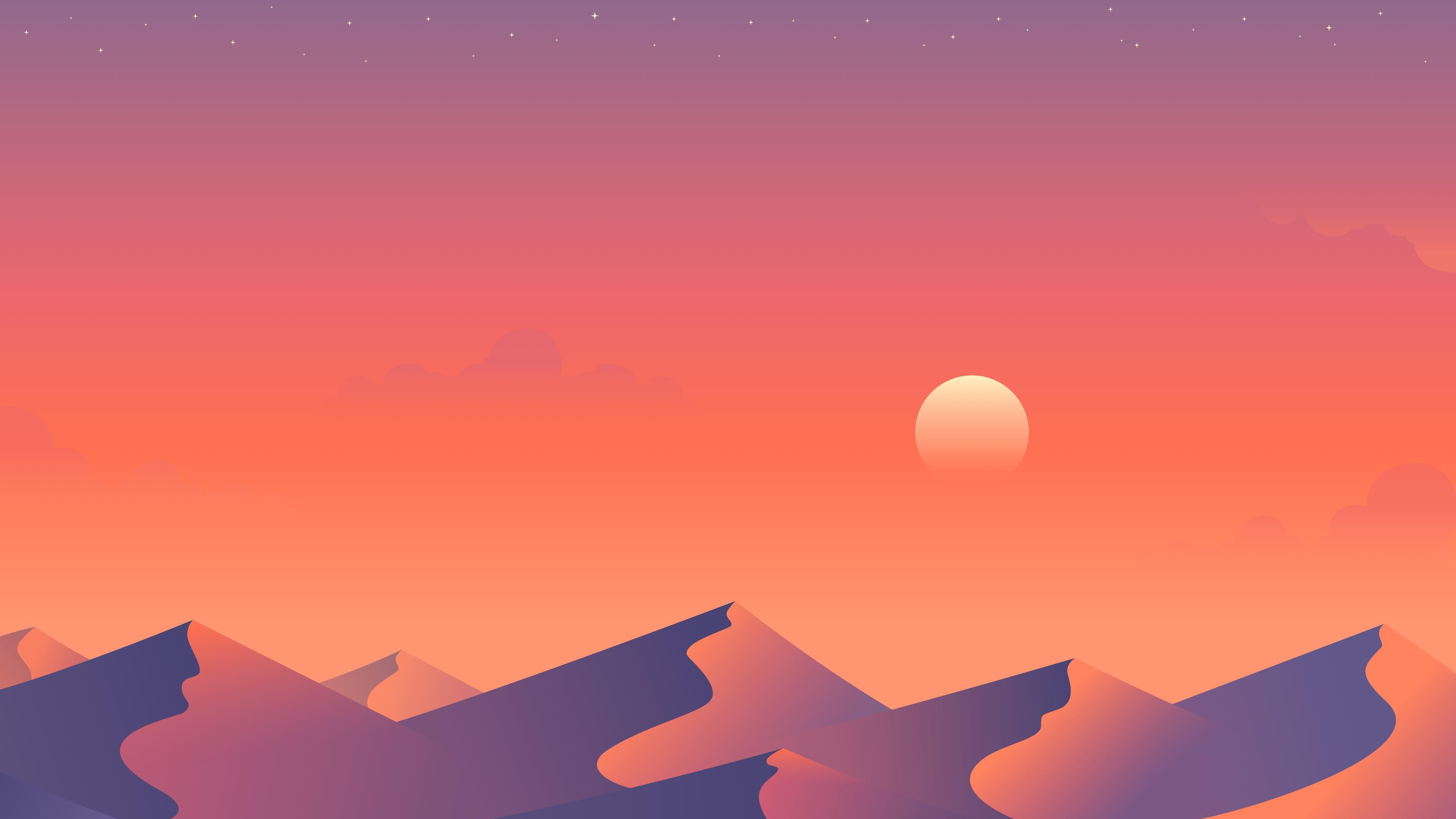 Download wallpaper: Illustration: Desert nights 2 5120x2880
