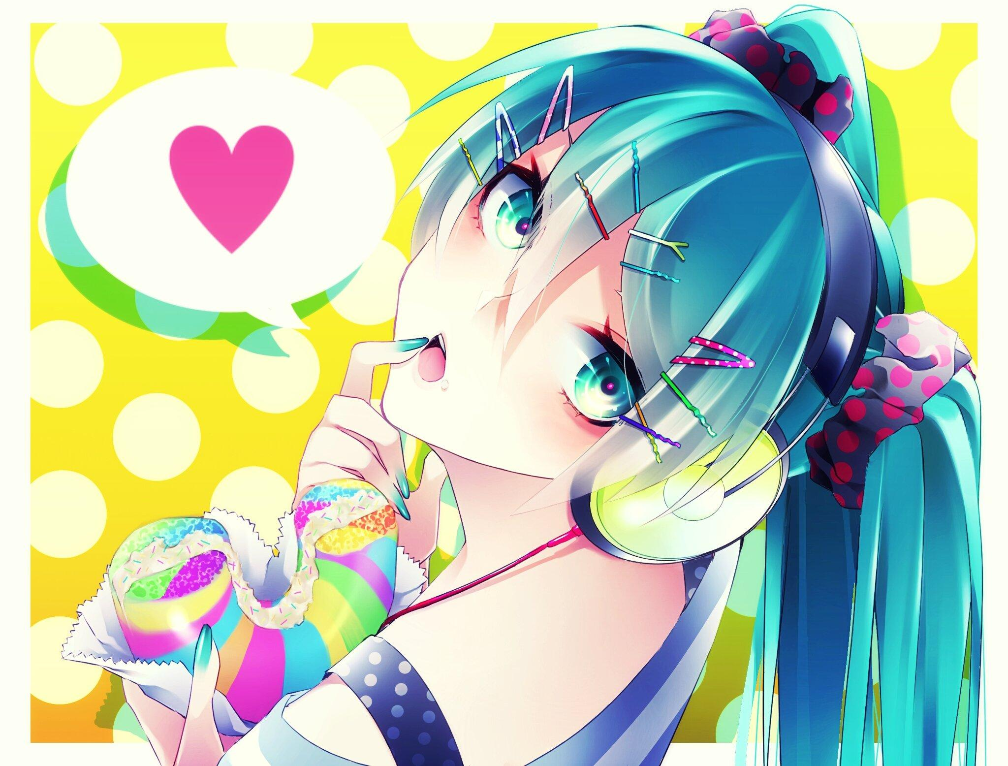 Vocaloid Hatsune Miku White Border Wires Speech Bubble wallpapers