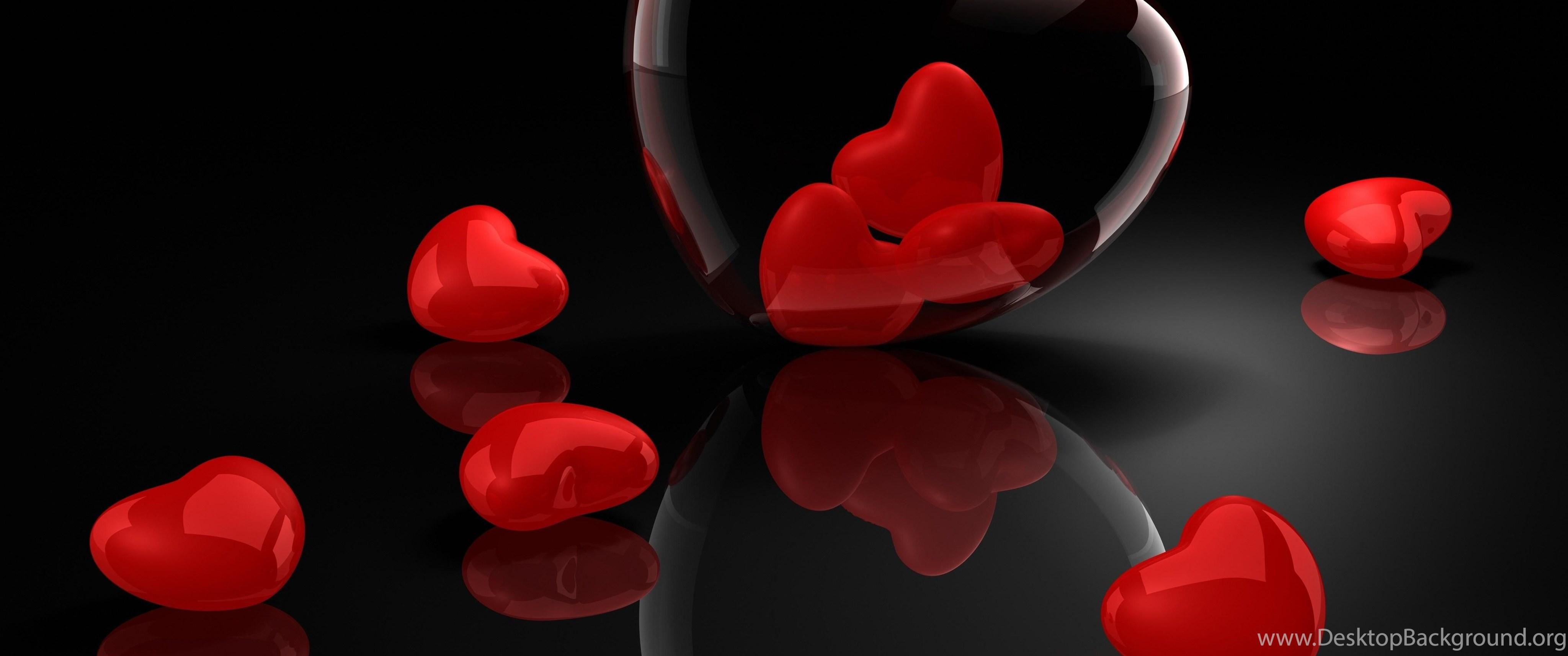 Heart, Glass, 3d, Reflection >> HD Wallpaper, Get It Now! Desktop
