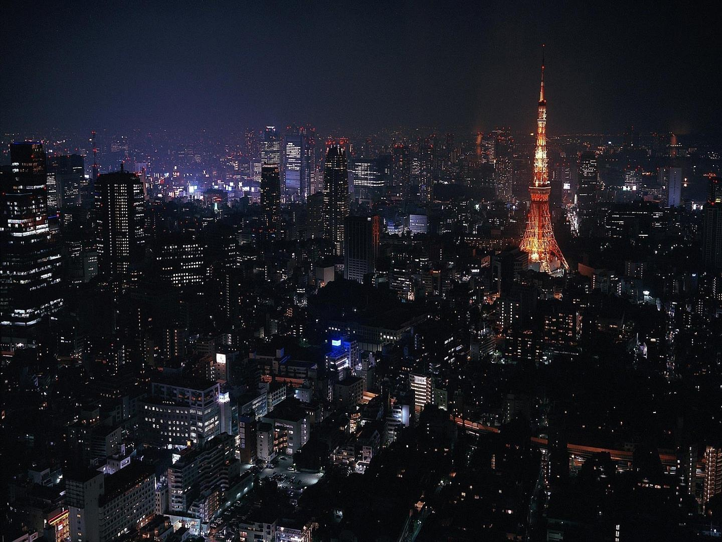 1440x1080 Night View of Tokyo City of Japan HD Wallpapers