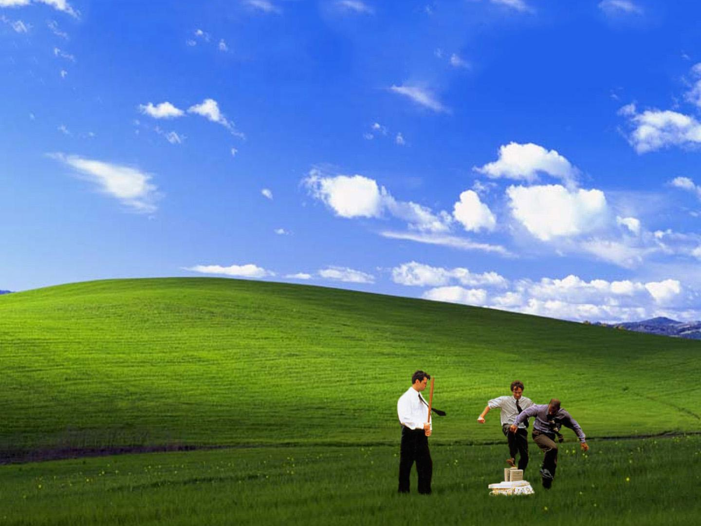 Office Space, XP Bliss style [1440x1080] : wallpapers