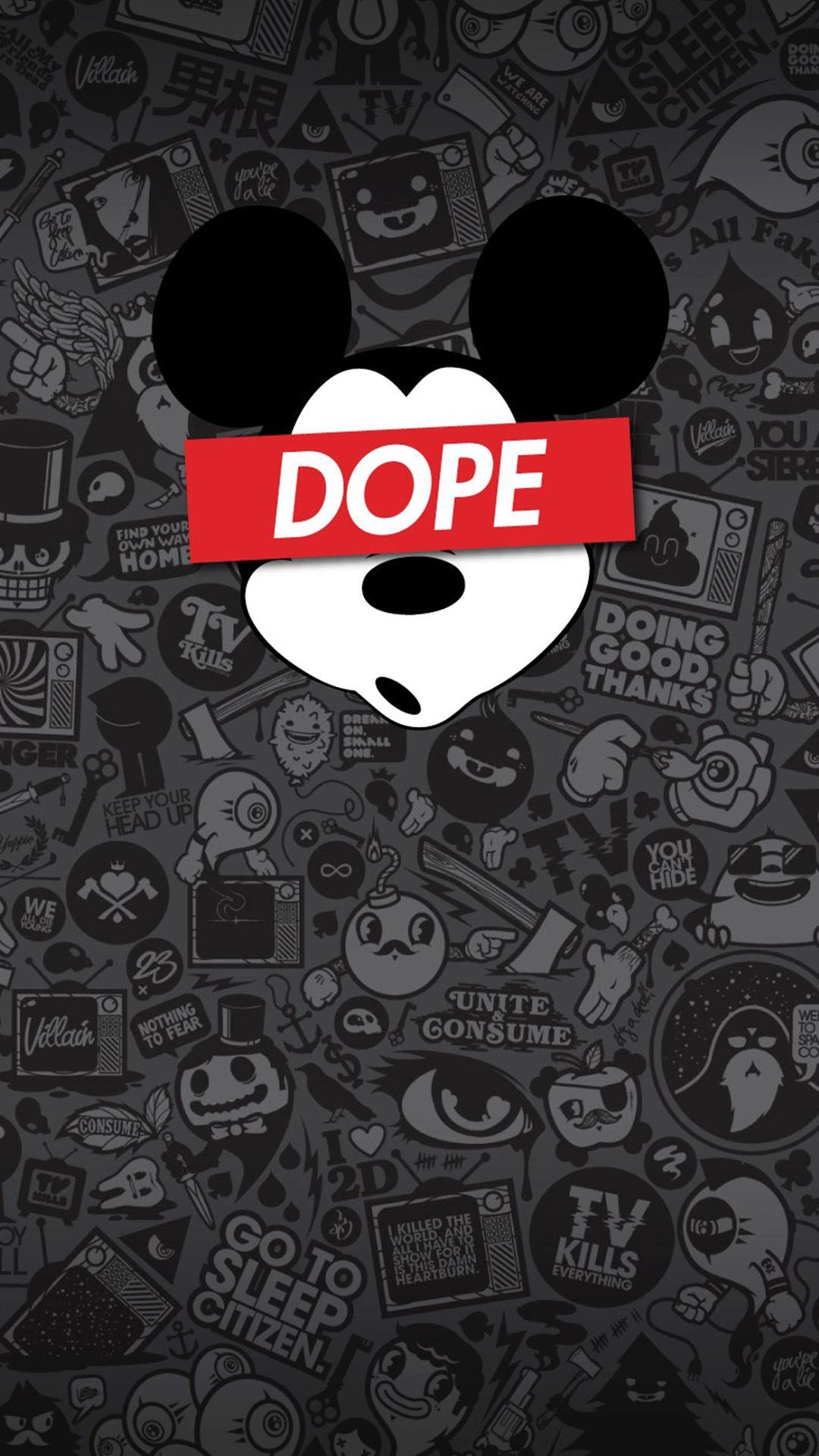 Mickey Mouse Supreme iPhone Wallpapers - Wallpaper Cave