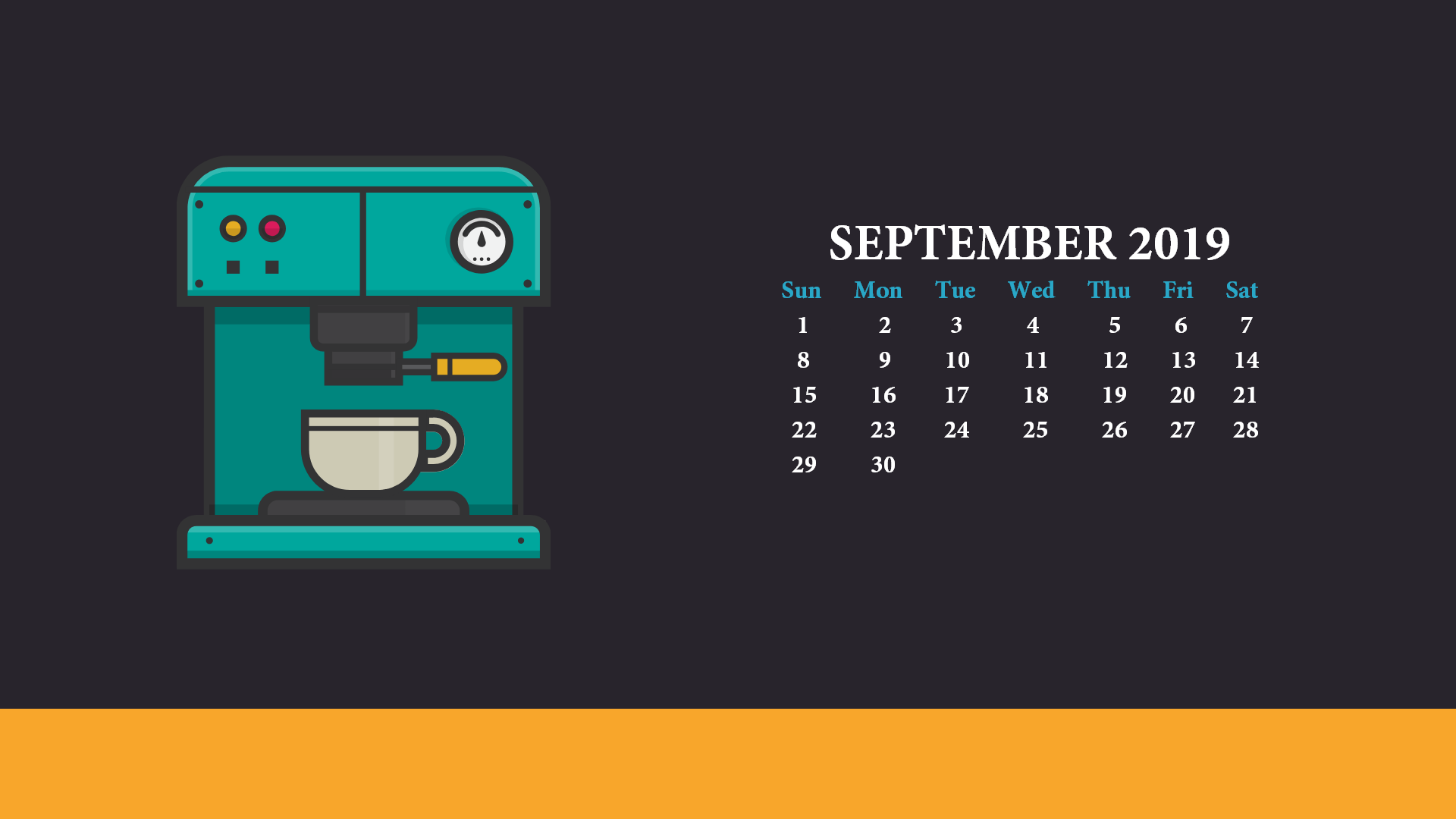 2019 Desktop Calendar Wallpapers
