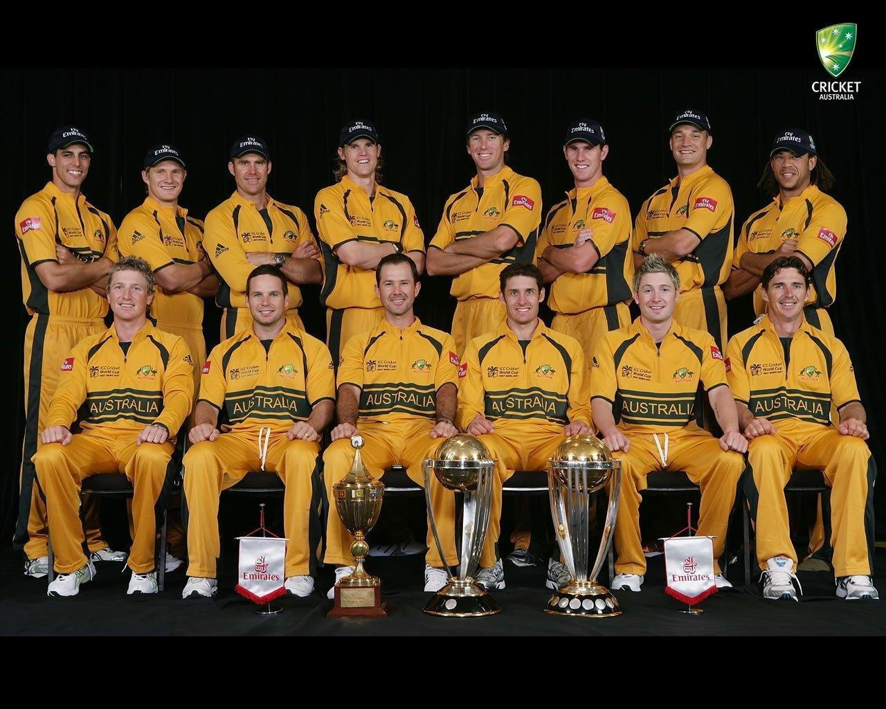 Australian Cricket Team Zoom Background