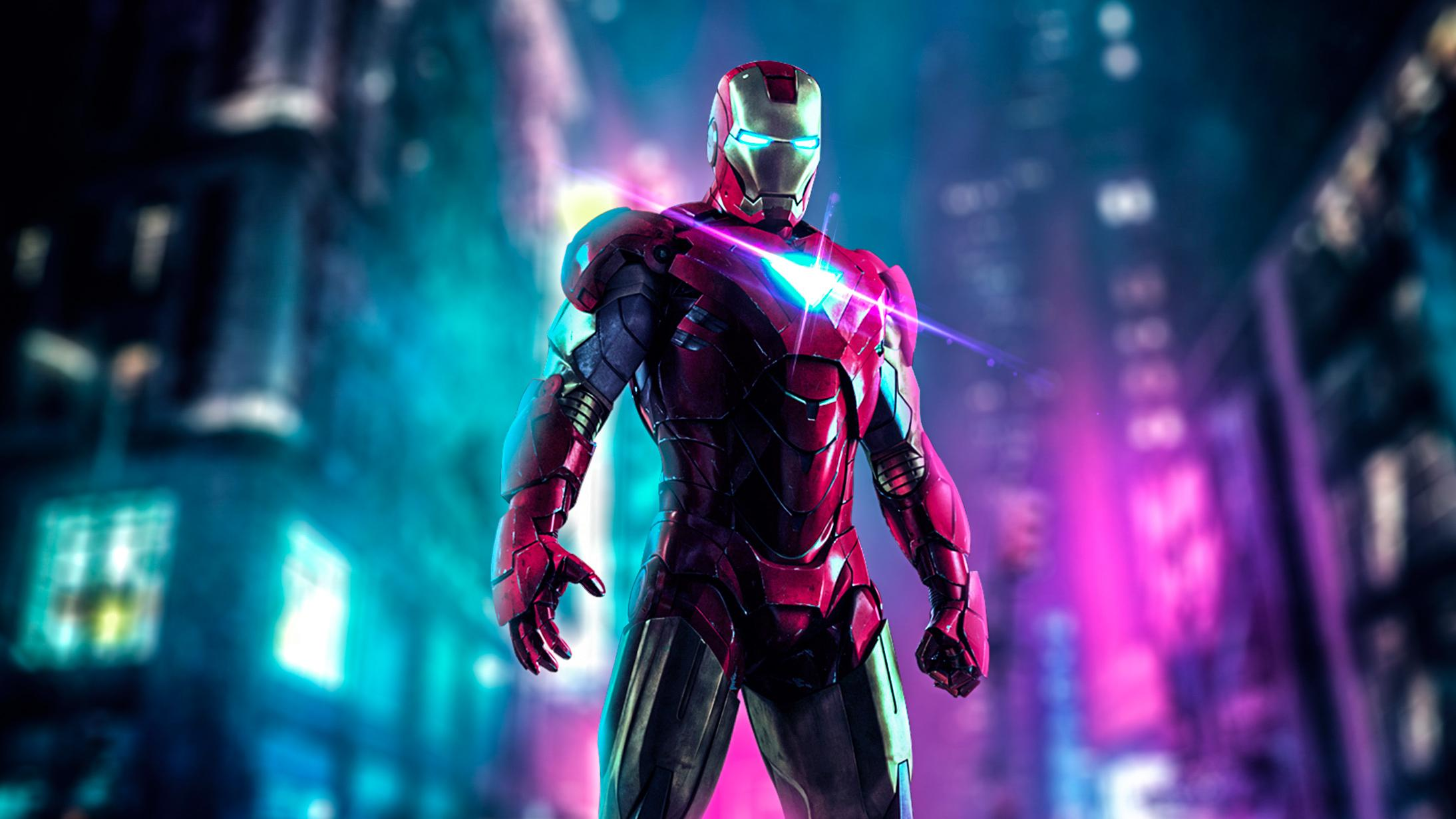 Iron Man Neon Wallpapers Wallpaper Cave