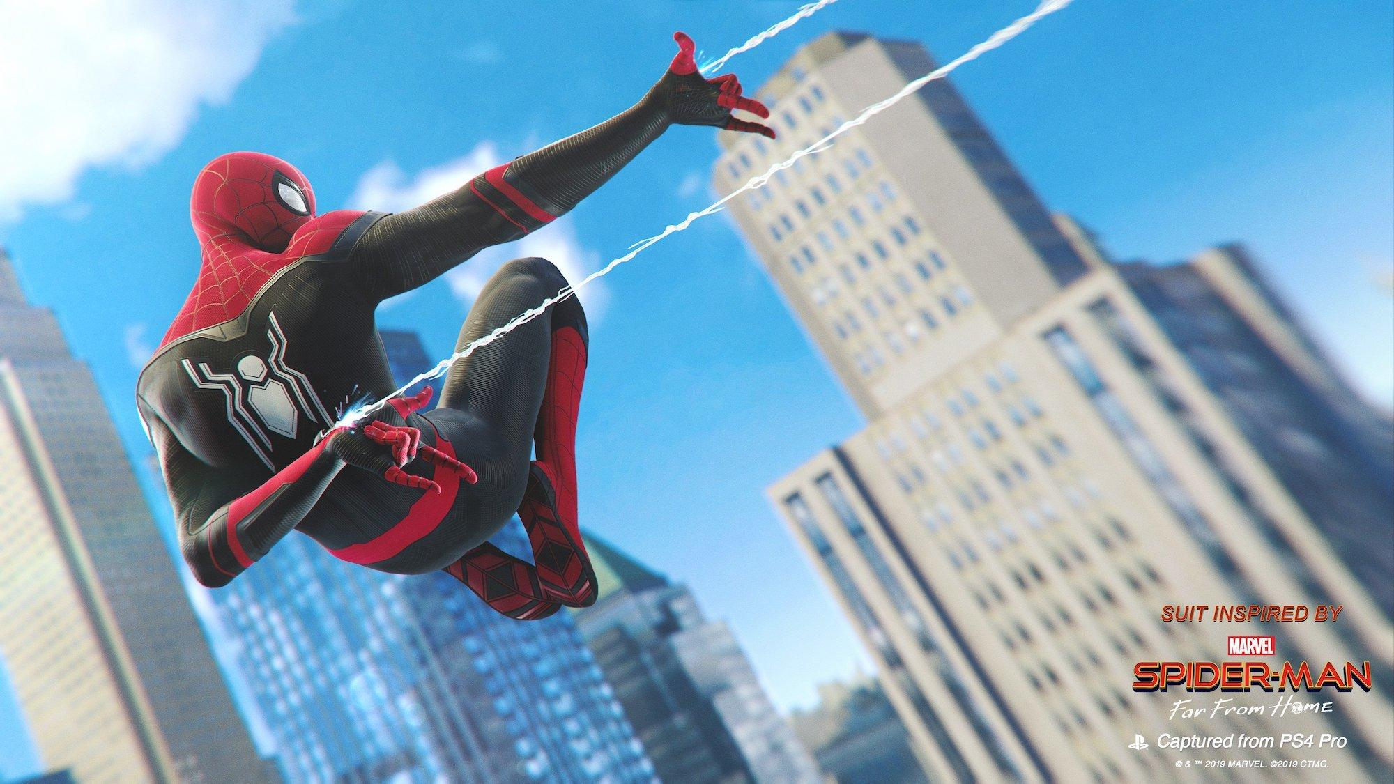Spider Man Far From Home Ps4 Wallpapers Wallpaper Cave