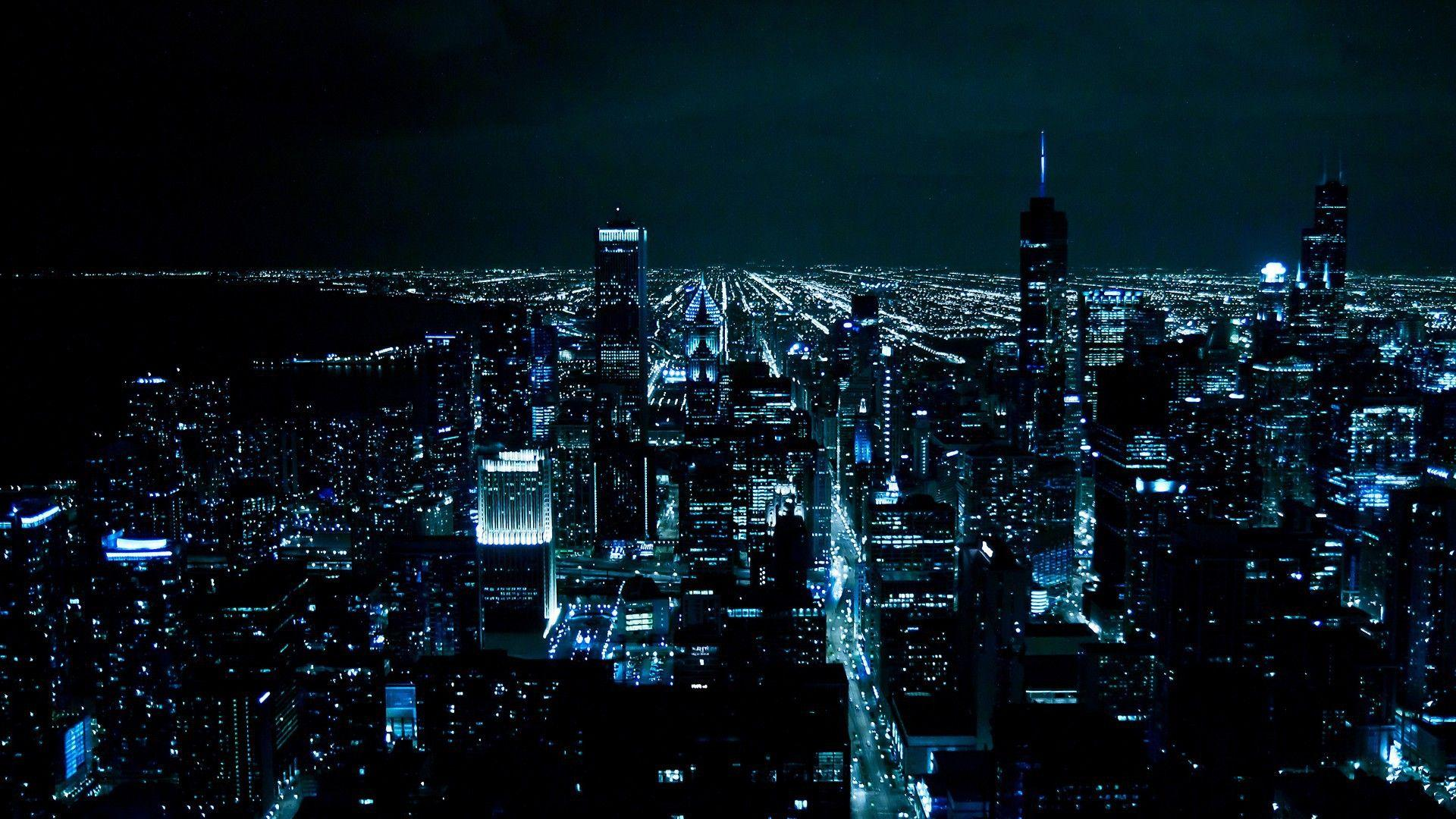 City Buildings Cityscape At Night Wallpapers - Wallpaper Cave