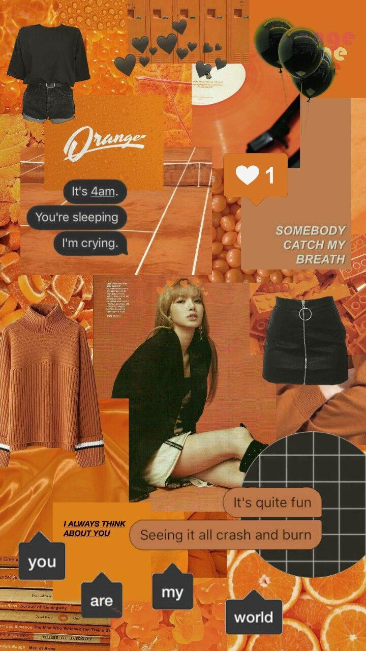 46823369 lisa orange collage aesthetic wallpapers