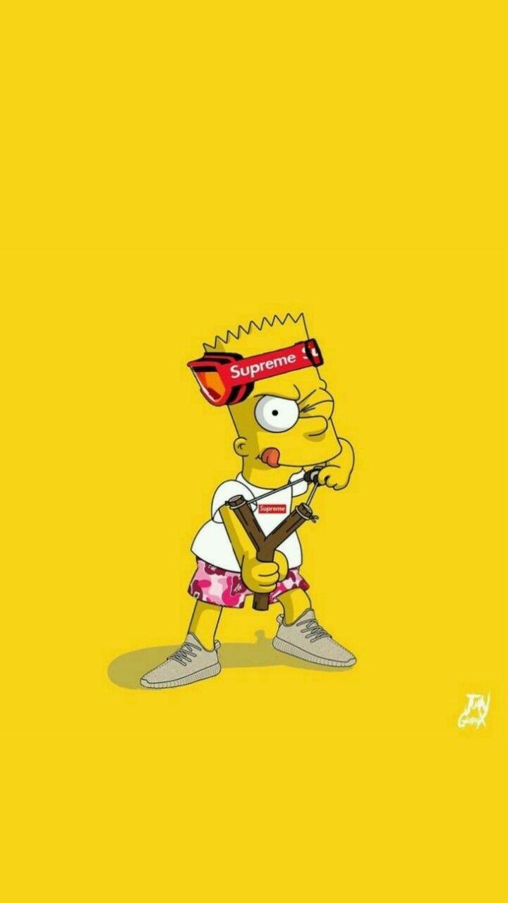 T ADC Supreme Simpson wallpapers iphone Supreme