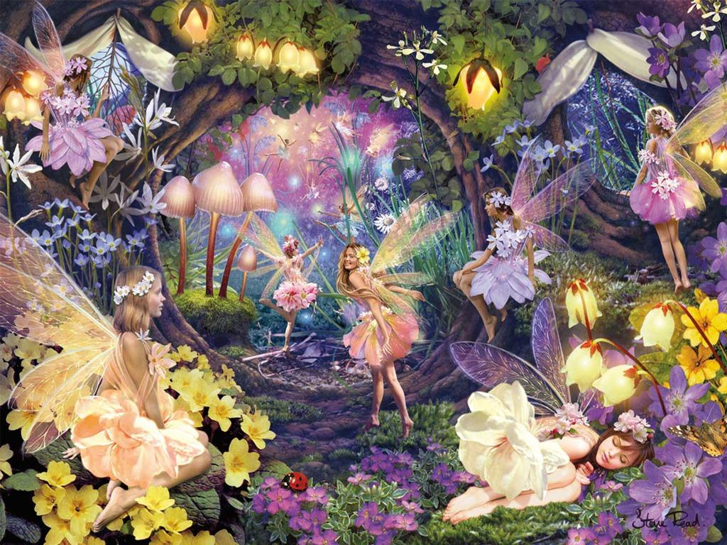 Garden Fairy Wallpapers Wallpaper Cave